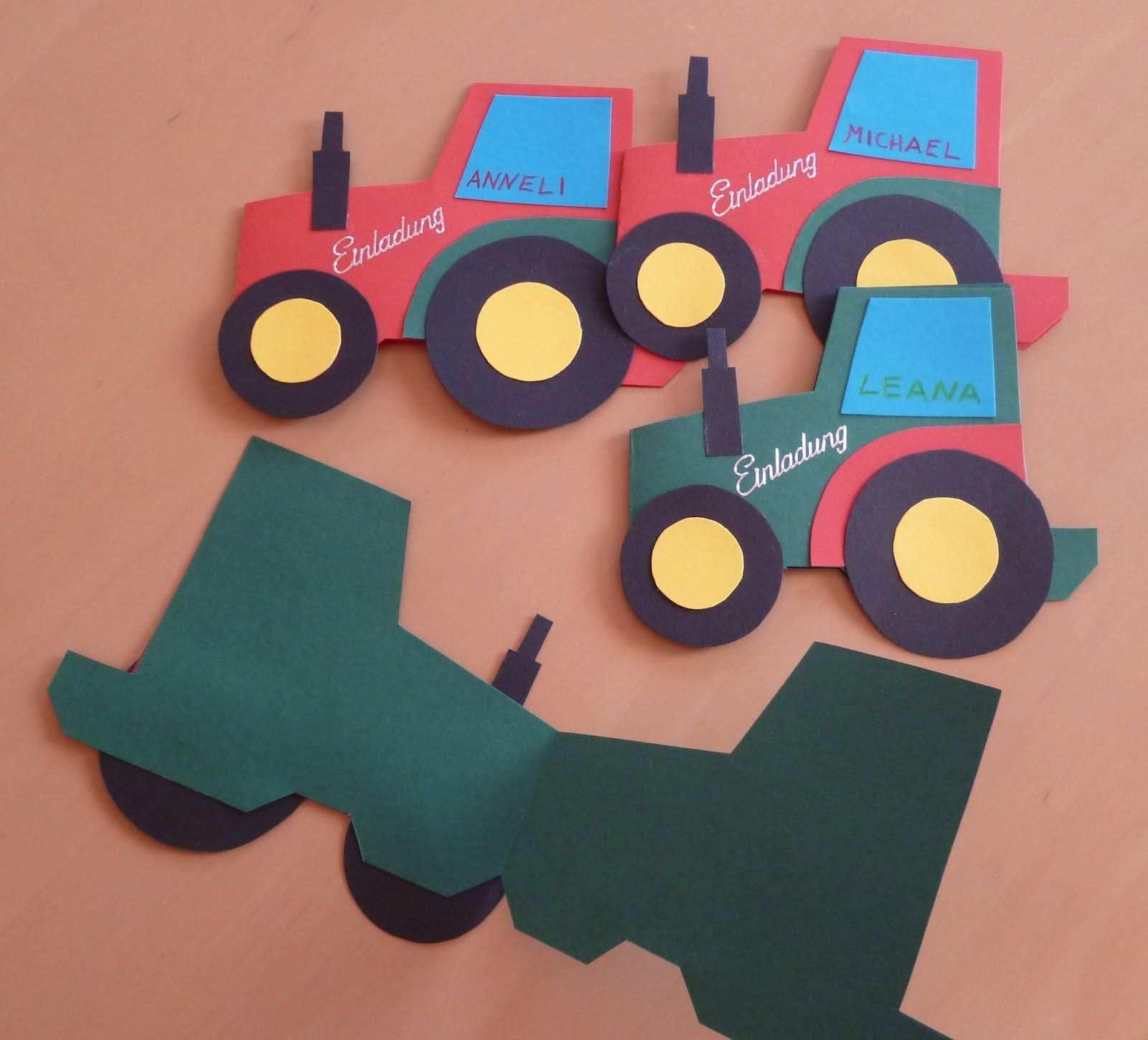 Einladungskarten Traktor Kindergeburtstag Geburtstagseinladungen Zum Ausdru Einladungskarten Kindergeburtstag Einladung Basteln Geburtstagseinladungen Kinder