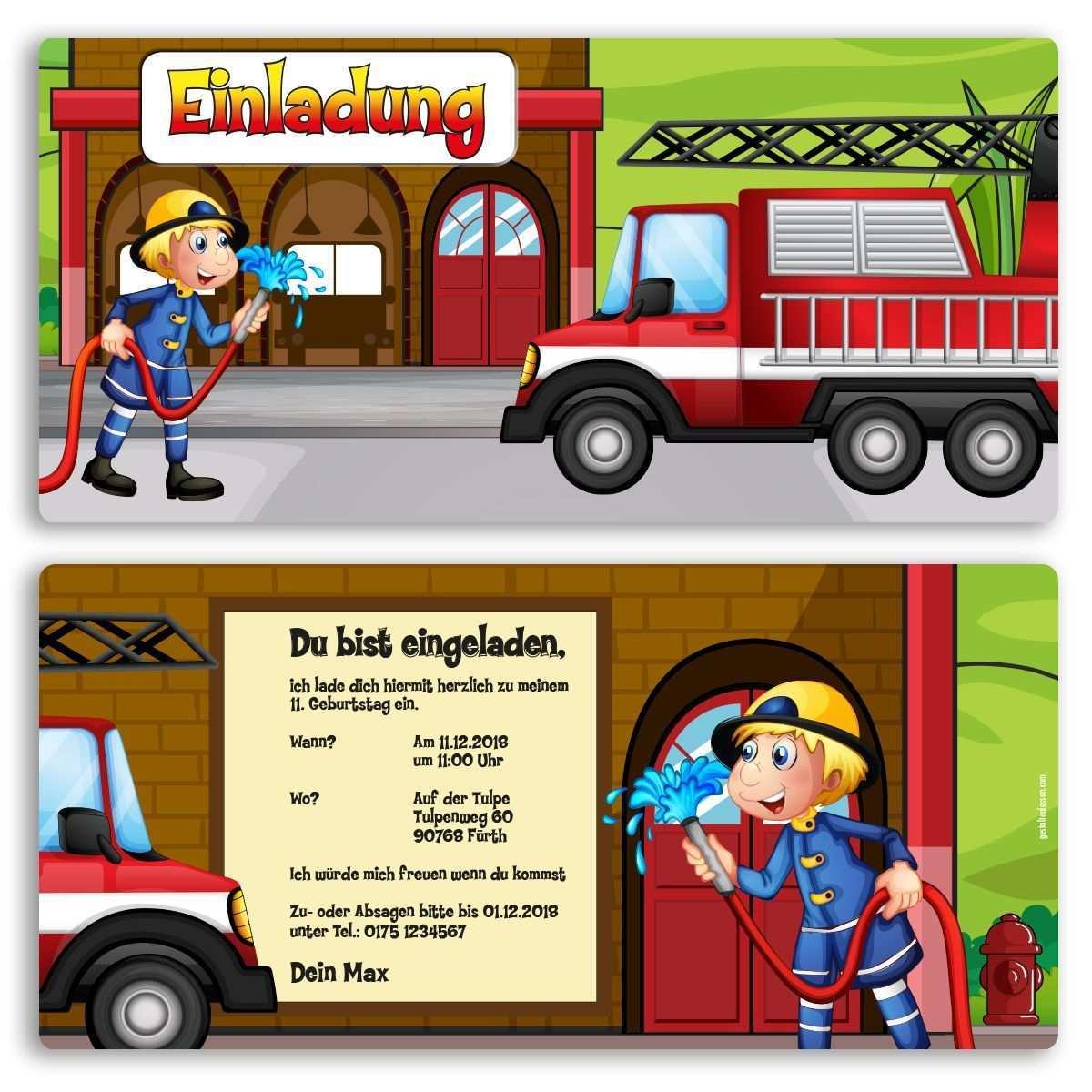 Einladungskarten Kindergeburtstag Feuerwehr Geb In 2020 Einladungskarten Kindergeburtstag Einladungskarten Kindergeburtstag Selber Basteln Einladung Kindergeburtstag