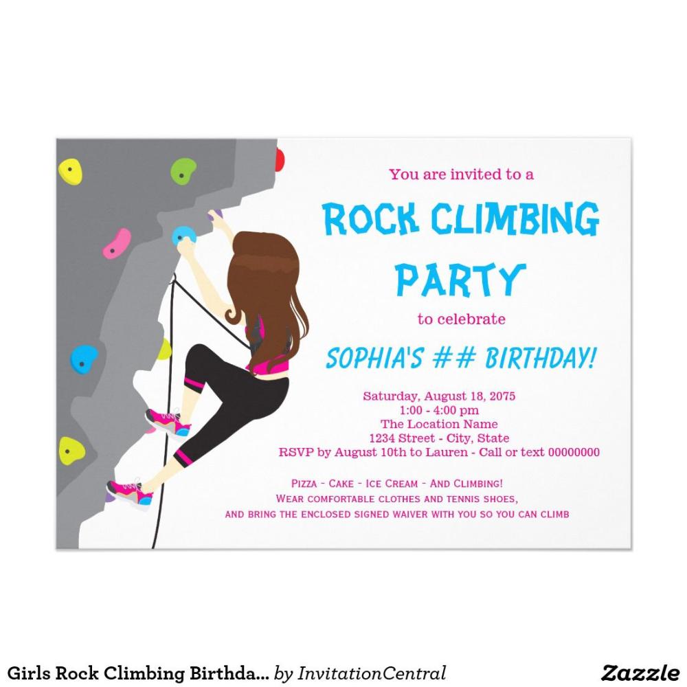 Einladung Kindergeburtstag Klettern Vorlage In 2020 Rock Climbing Birthday Party Invitations Rock Climbing Party Birthday Party Invitations