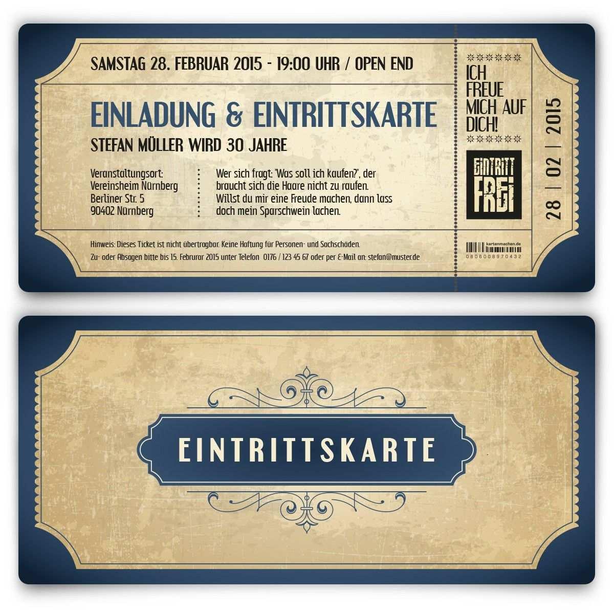 Einladungskarten Zum Geburtstag Vintage In Blau Einladungskarten Geburtstag Einladungen Einladungskarten Basteln Geburtstag