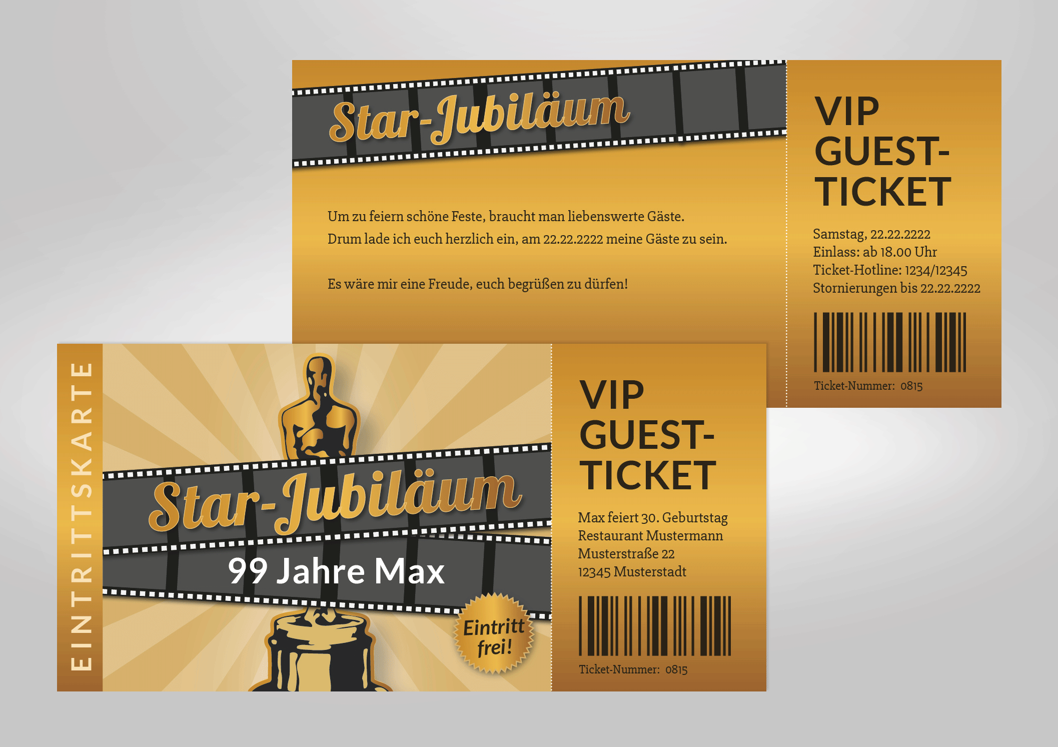 Einladungskarte Vip Ticket Zum Geburtstag Star Jubilaum Einladung Gestalten Einladungskarten Einladungskarten Hochzeit Gunstig