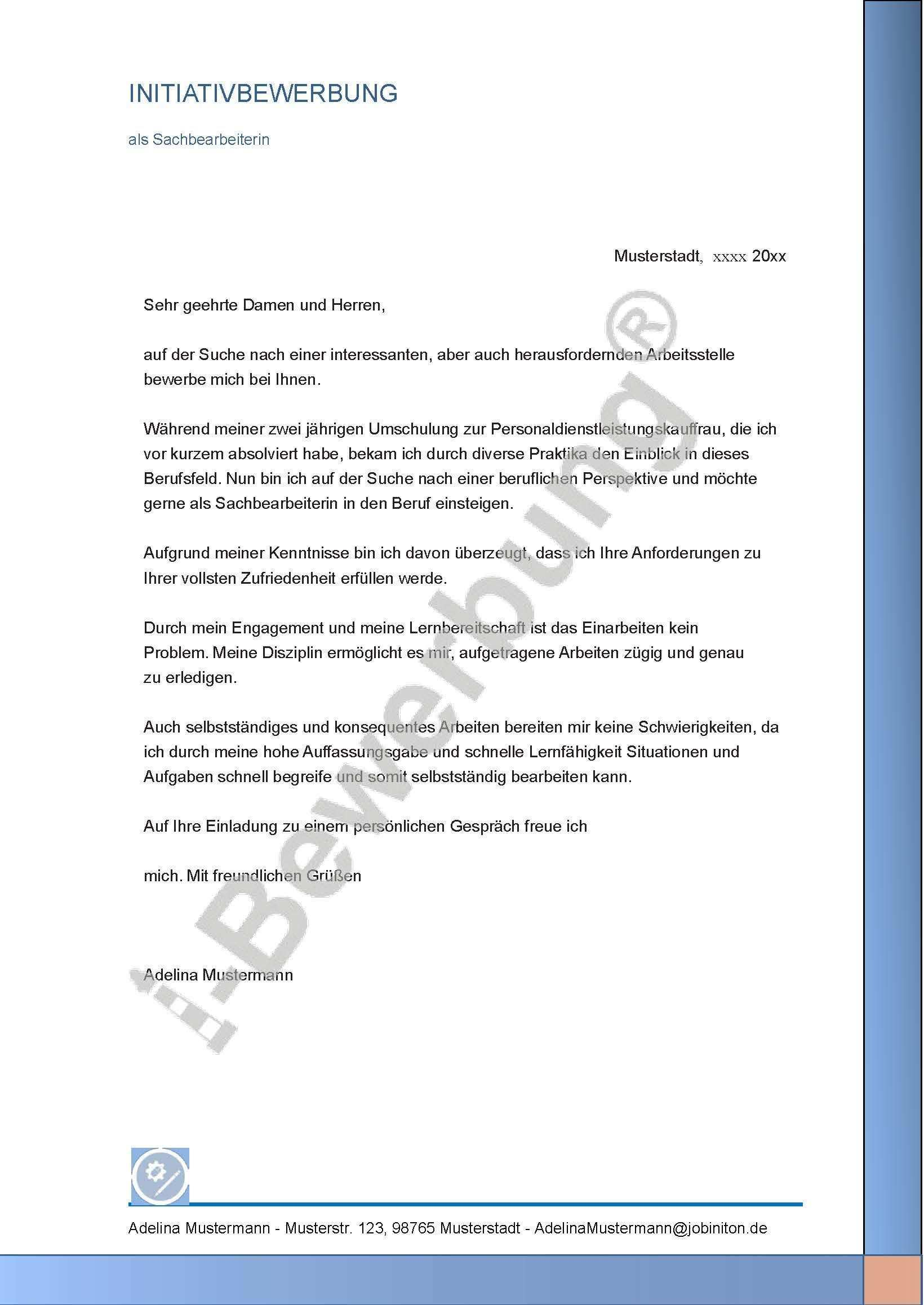 Muster Fur Das Bewerbungsanschreiben Als Sachbearbeiterin Adelina 625 Bewerbung Anschreiben Bewerbung Schreiben Bewerbung