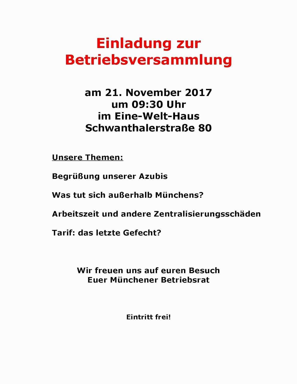 Einladung Mitarbeiterversammlung Muster Genial Hugendubel Verdi Infoblog 2017 Lecrachin Net