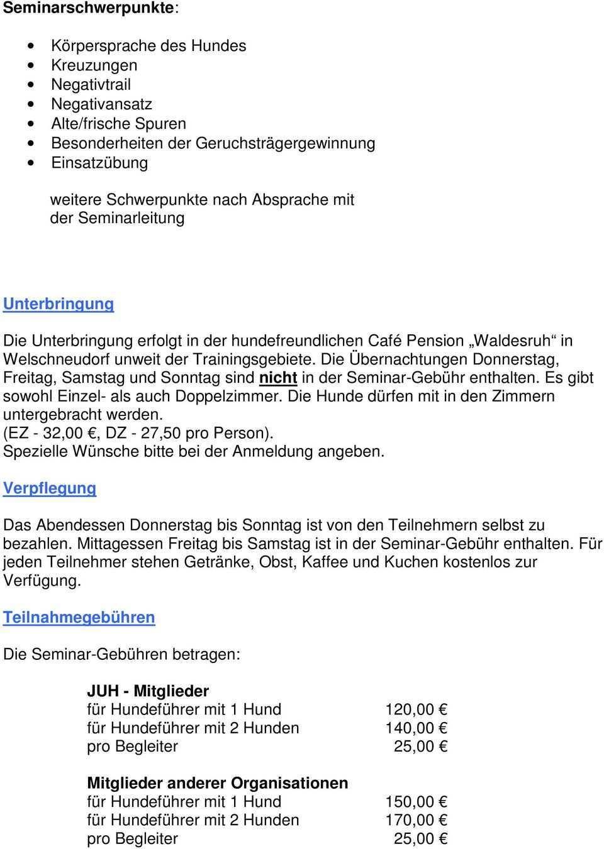 Einladung Zum Seminar Mantrailing Pdf Kostenfreier Download