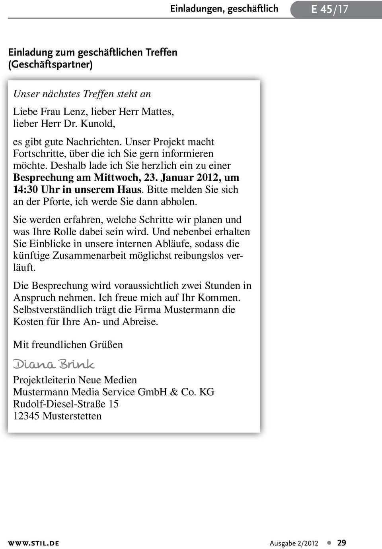 Geschaftliche Einladungen 2012 Wie Sie Stilvoll Die Werbetrommel Fur Ihre Veranstaltung Ruhren Pdf Kostenfreier Download