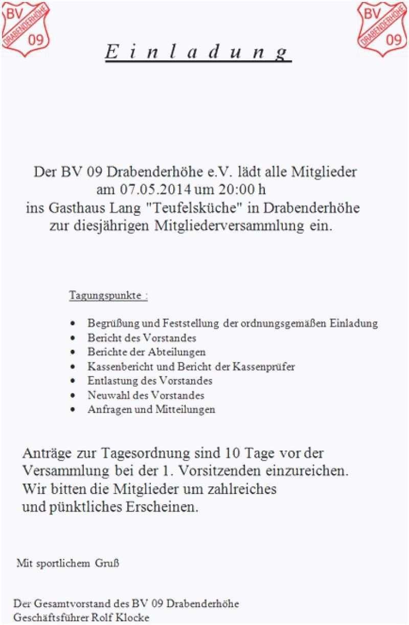 Einladung Mitgliederversammlung Verein Muster Einladungen Einzigartige Einladungen Einladungen Vorlagen