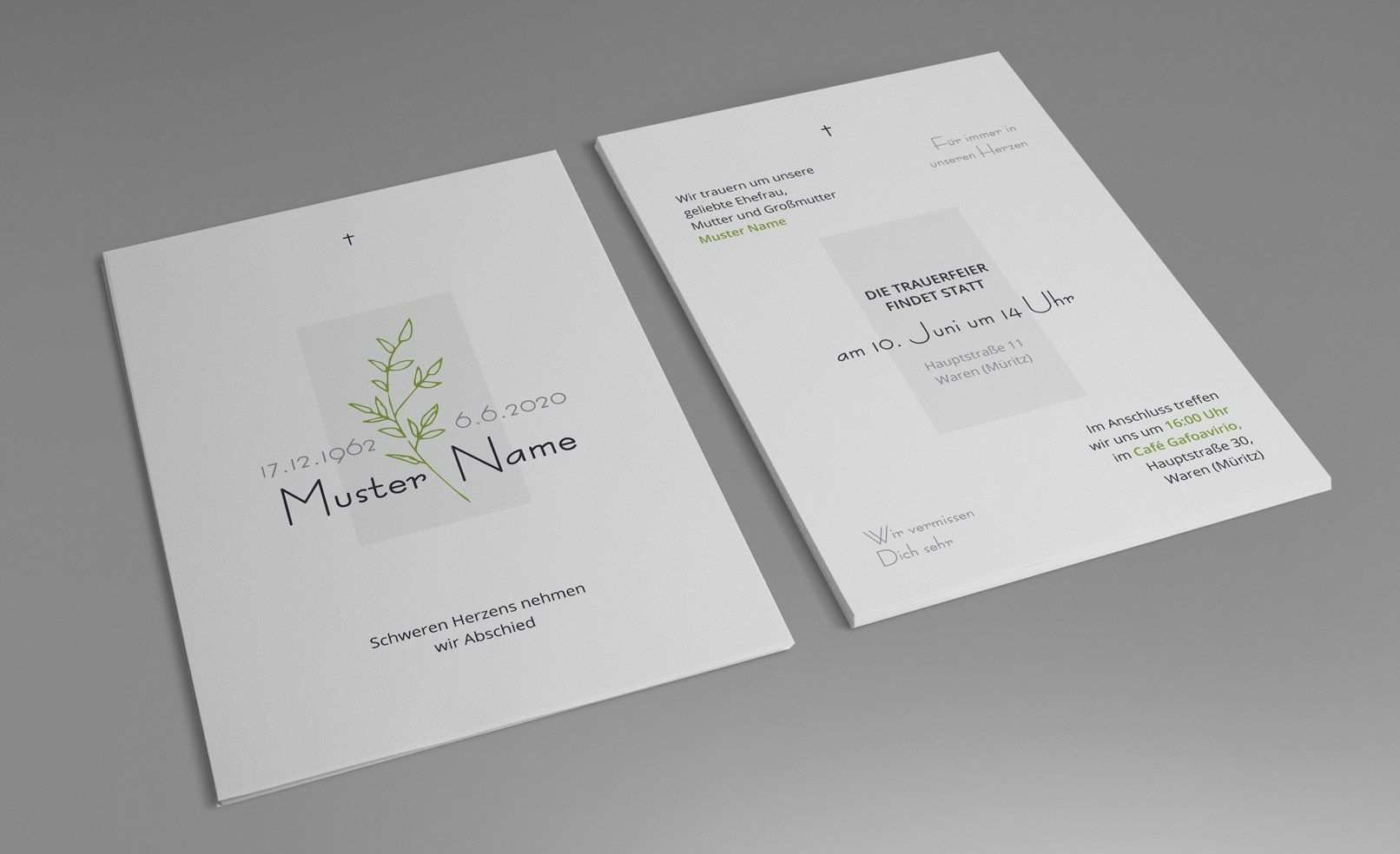 Trauerkarten Vorlagen Fur Einladungen Zu Beerdigung Und Trauerfeier Trauerkarte Trauerfeier Trauerkarten Gestalten