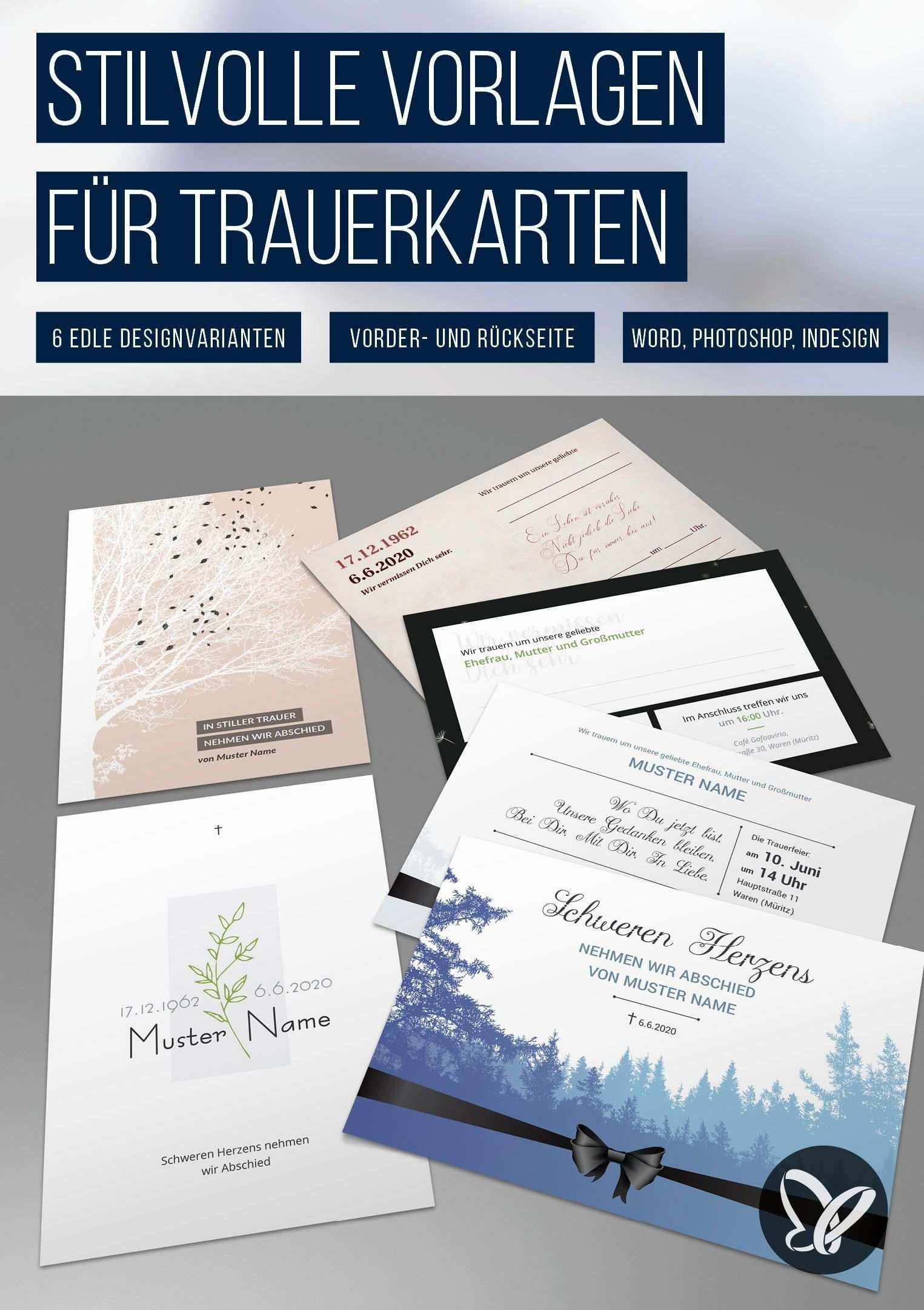 Trauerkarten Vorlagen Fur Einladungen Zu Beerdigung Und Trauerfeier Vorlagen Powerpoint Vorlagen Einladungskarten Gestalten
