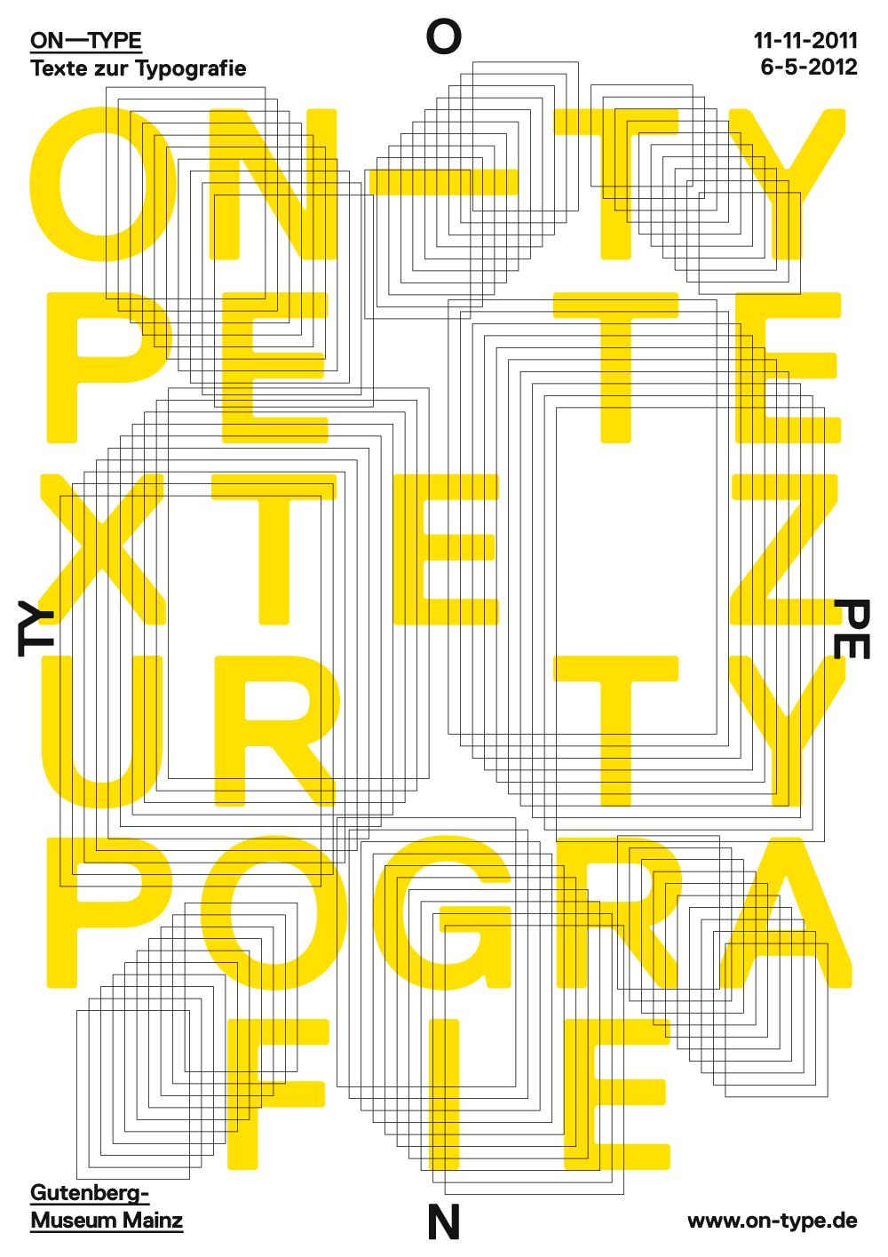 On Type Gutenberg Museum Mainz Typografie Plakat Design Grafik