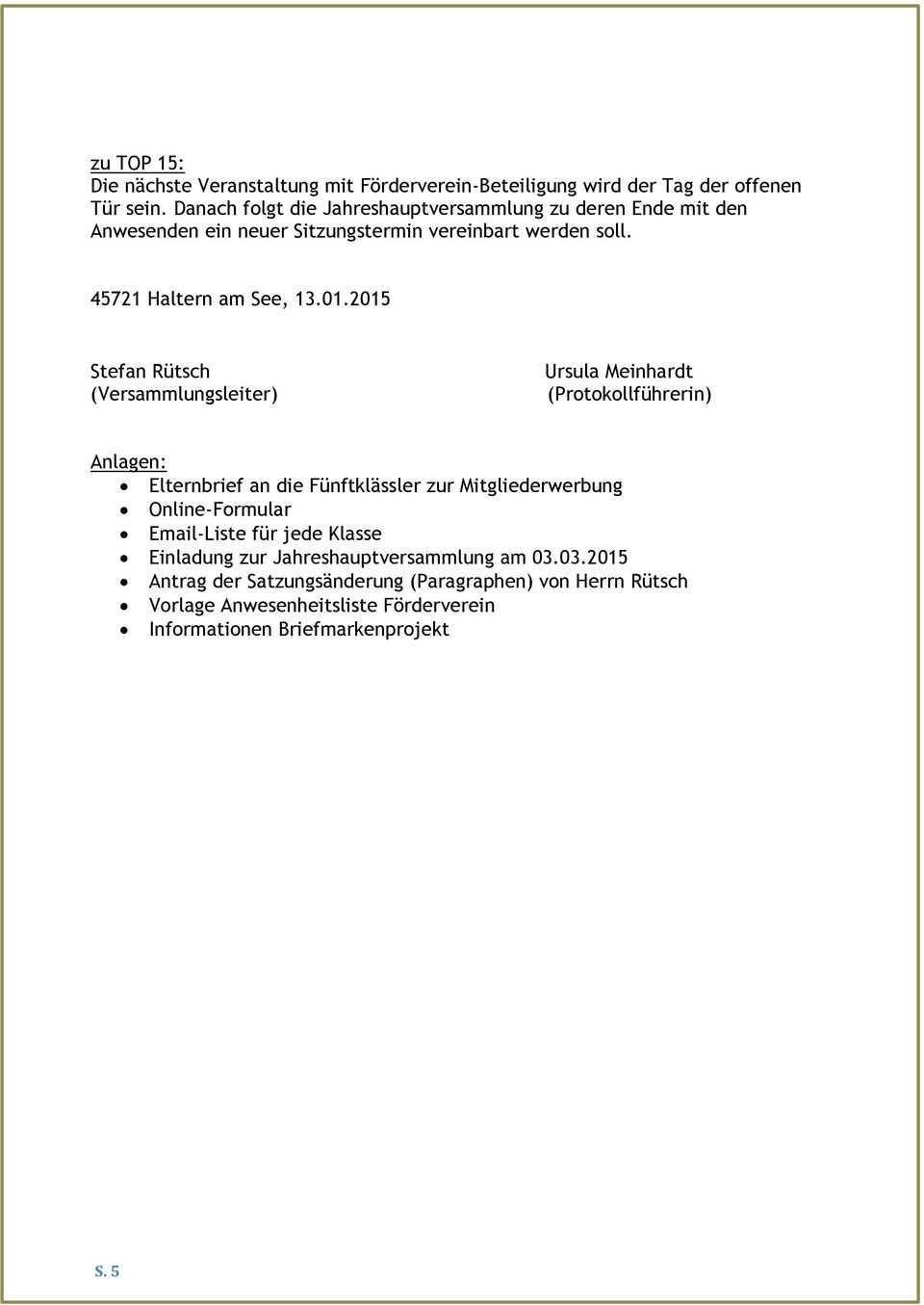 Protokoll Der Vorstandssitzung Vom Pdf Kostenfreier Download