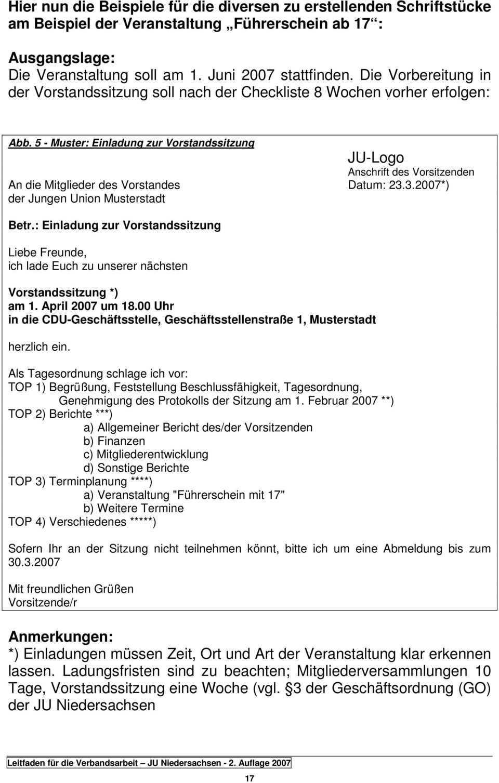 Leitfaden Fur Die Verbandsarbeit Der Jungen Union Niedersachsen Pdf Kostenfreier Download