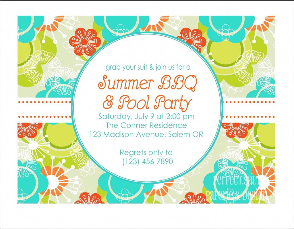 Sommerfest Ladt Vorlagen Ein Druckbare Sommerfesteinladungs Poolparty Von In 2020 Party Invite Template Bbq Party Invitations Party Invite Design