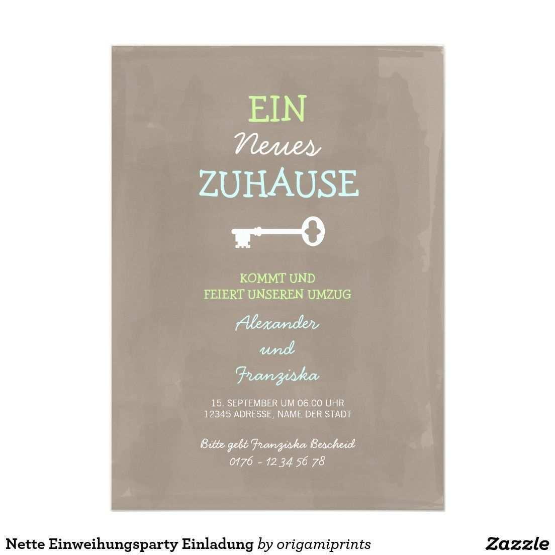 Nette Einweihungsparty Einladung Zazzle De Einweihungsparty Einladung Richtfest Und Einladungen