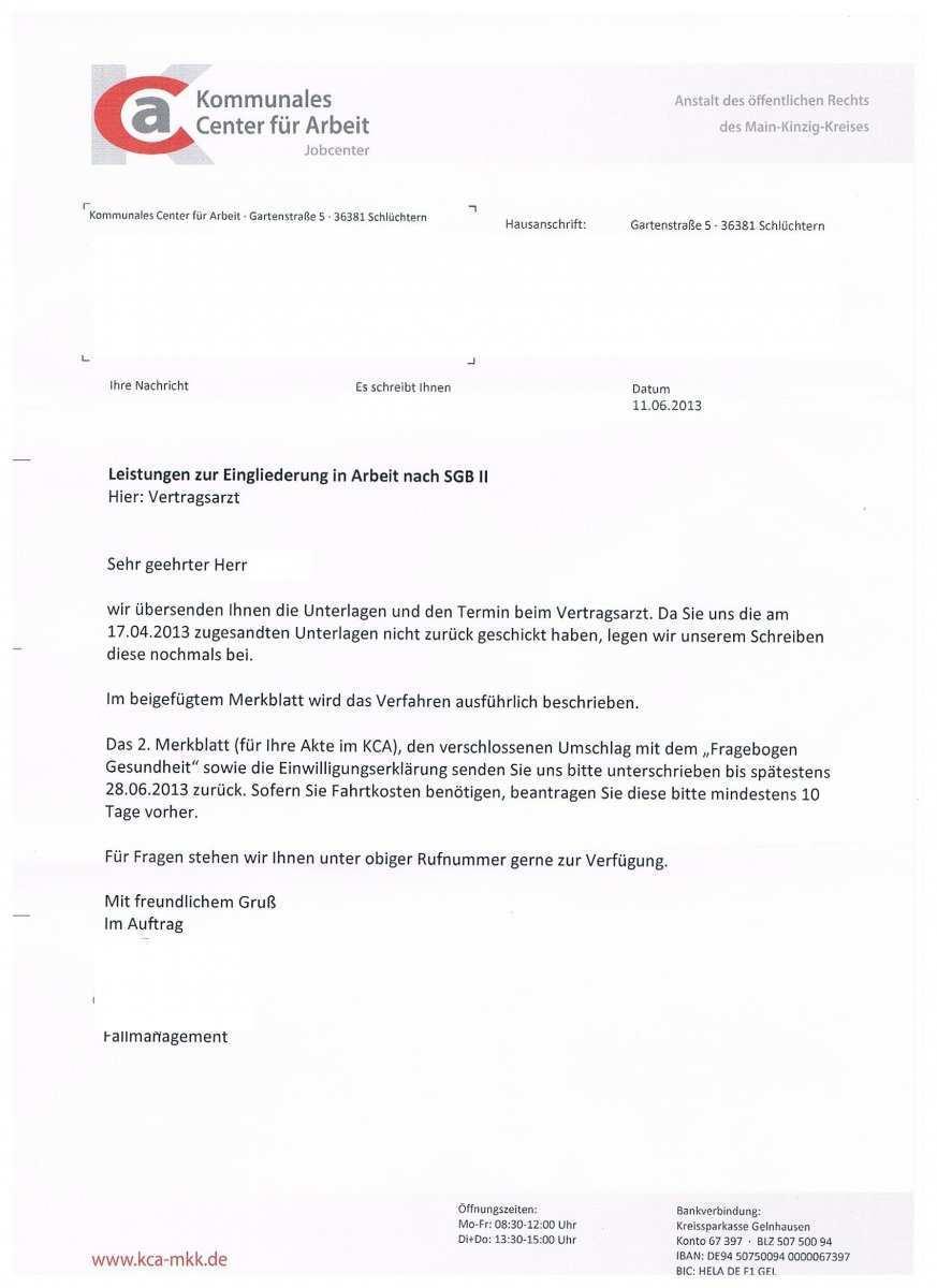 Arztliche Untersuchung Einwilligungserklarung Erwerbslosenforum Deutschland