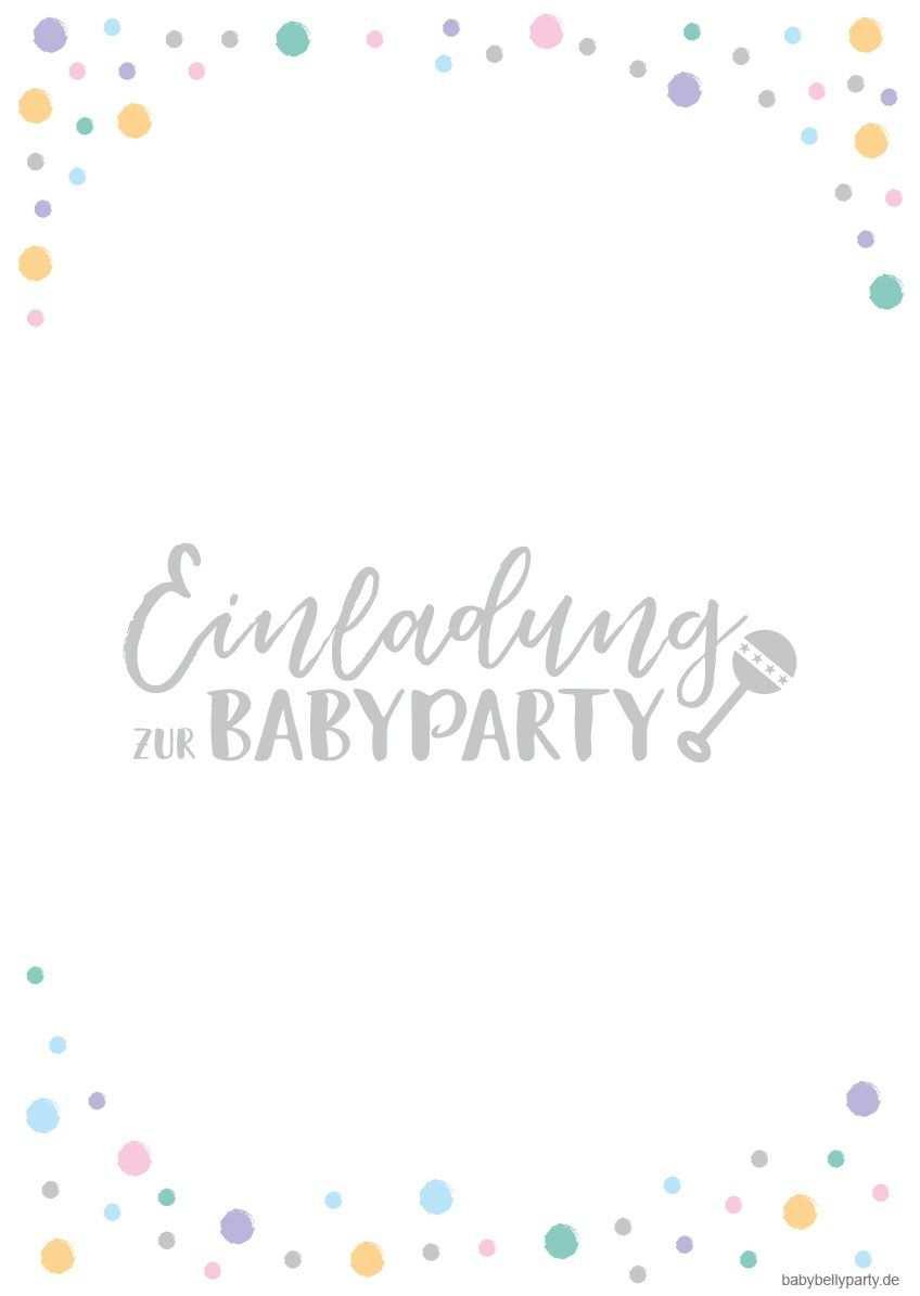 Kostenlose Babyparty Einladungskarten Zum Download Babyparty Einladungskarten Babyparty Einladung Vorlage Kostenlos