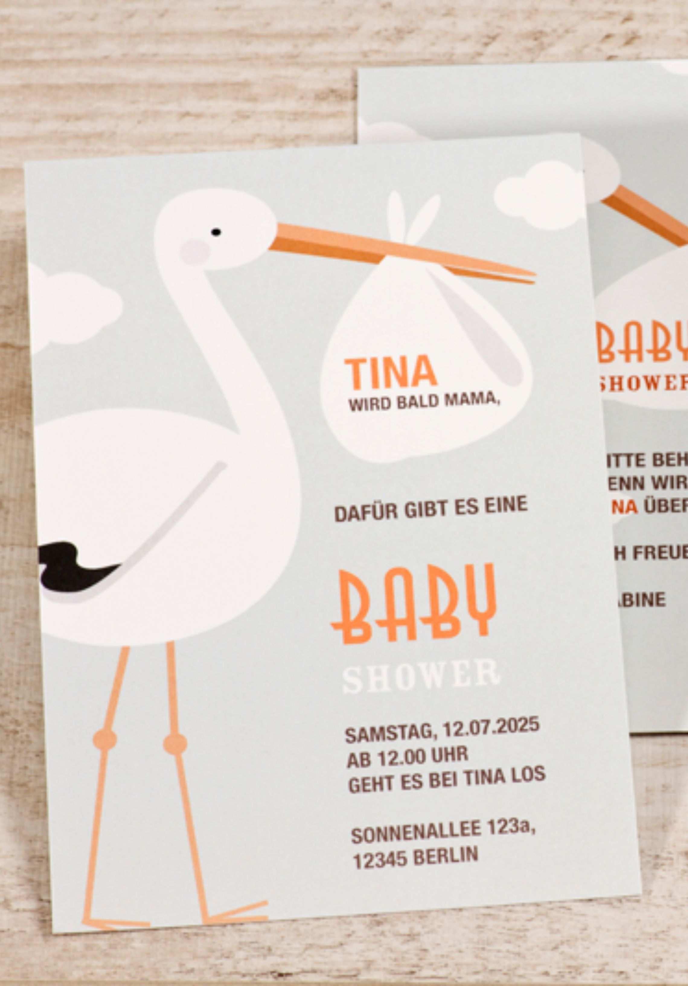 Home Babyparty Einladungskarten Einladungen Zur Babyparty Einladungen