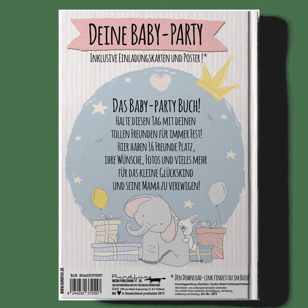 Das Baby Party Buch Ein Einzigartiges Geschenk Zur Babyshower Party Babyparty Einladungskarten Babyparty Babyshower Party
