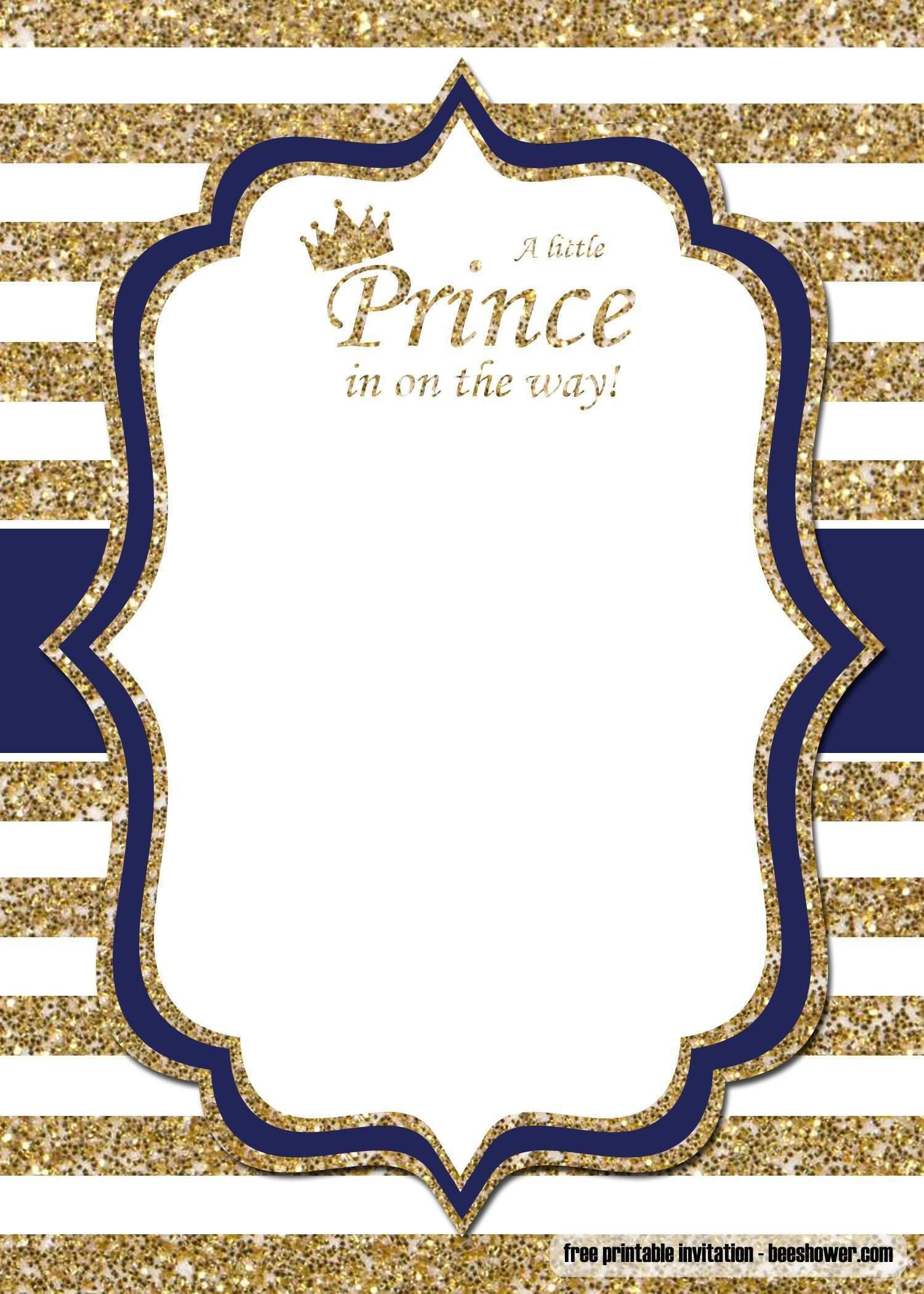 Kostenlose Prinz Babyparty Einladungsvorlagen In 2020 Einladungsvorlage Einladungen Vorlagen Einladungen