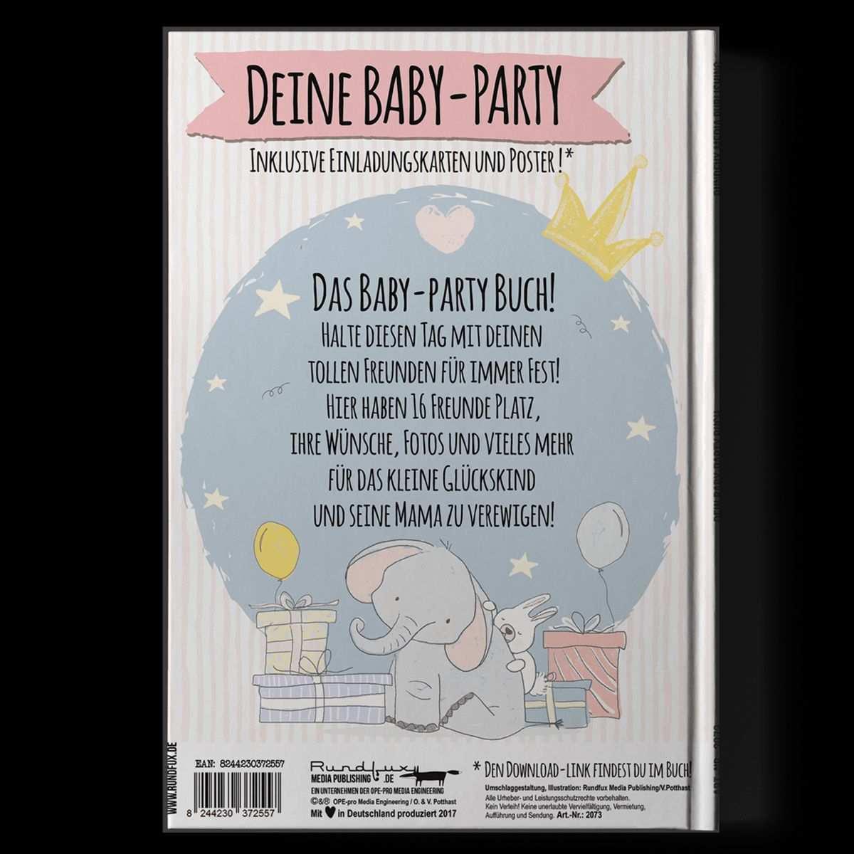 Das Baby Party Buch Ein Einzigartiges Geschenk Zur Babyshower Party Babyparty Babyparty Einladungskarten Babyshower Party