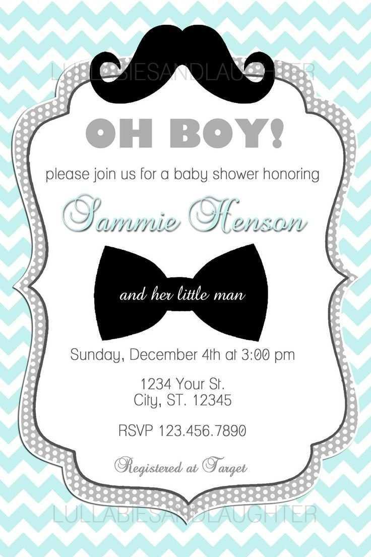 Custom Chevron Mustache Boy Baby Shower Invitation Digital File Convite Cha De Bebe Ideias De Convite Convites Personalizados