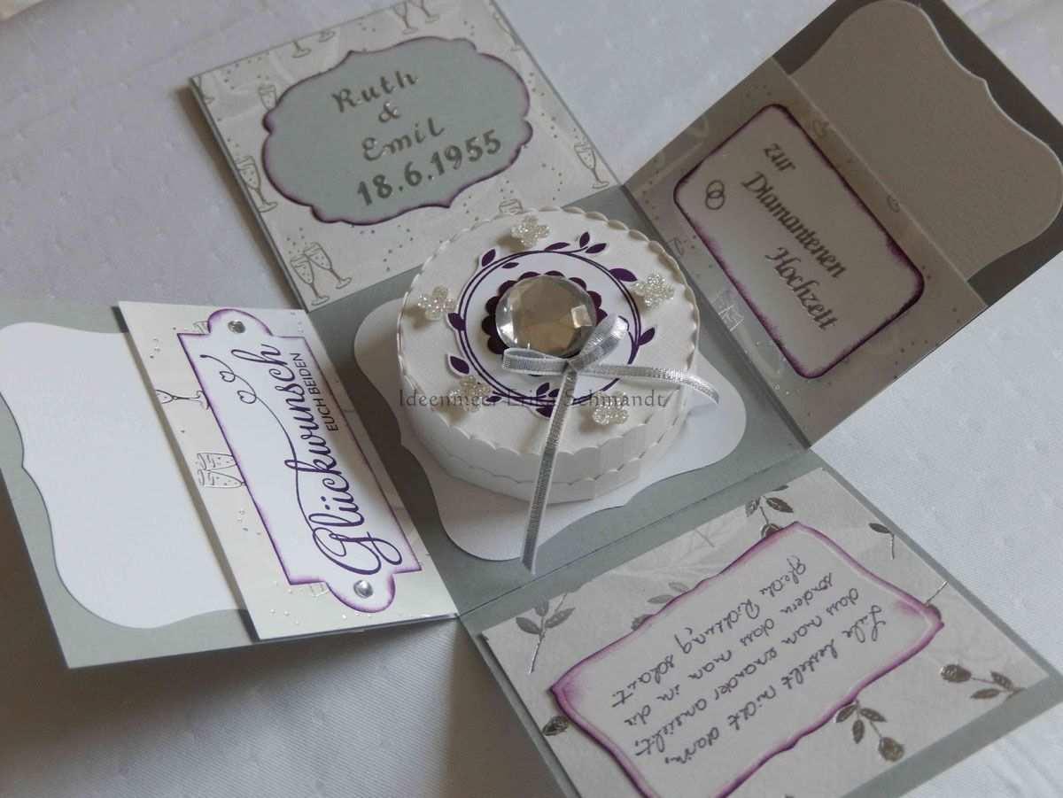 Einladungskarten Diamantene Hochzeit Vorlagen
