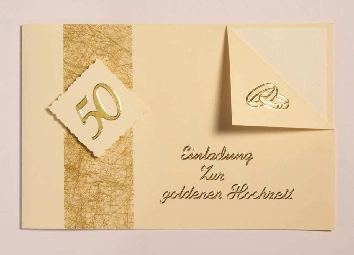 Einladungskarten Zur Goldenen Hochzeit Texte Einladung Goldene Hochzeit Einladungskarten Goldene Hochzeit Karte Hochzeit