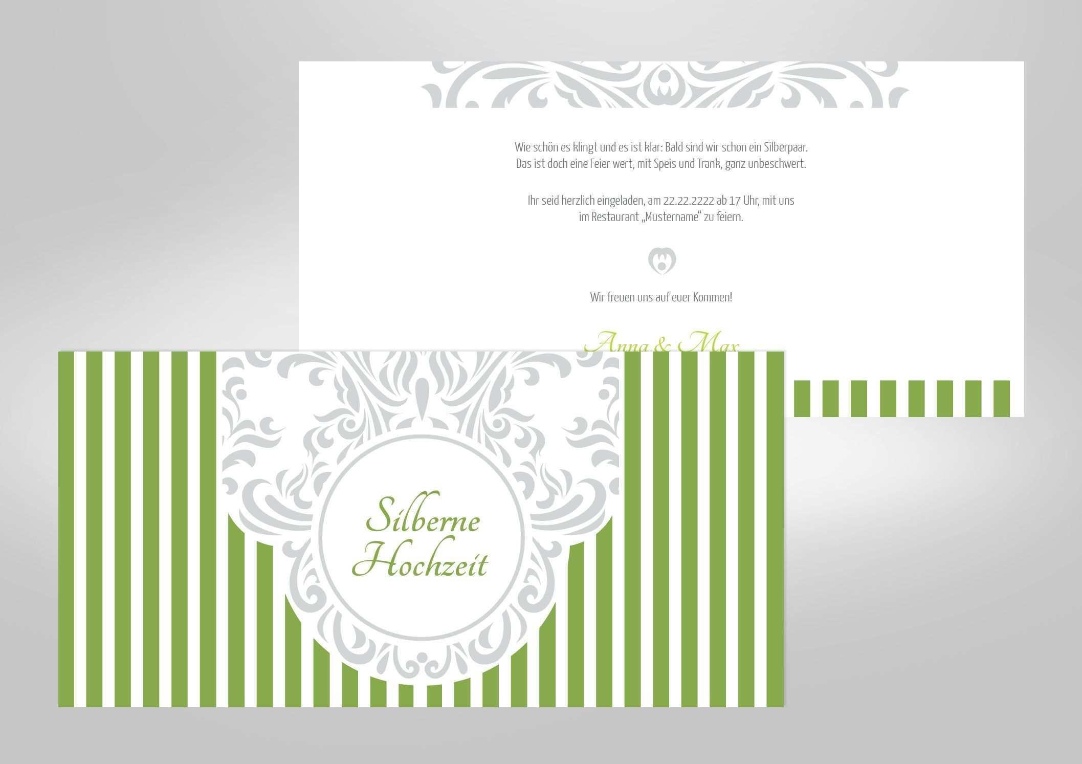 Einladungskarten Silberhochzeit Selber Machen Einladungskarten Silberhochzeit Einladungskarten Gestalten Einladungen