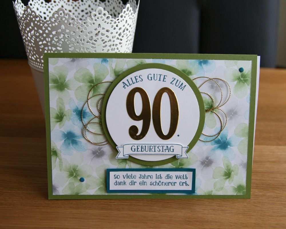 90 Geburtstag Geburtstag Selber Machen Einladung Gestalten Karten