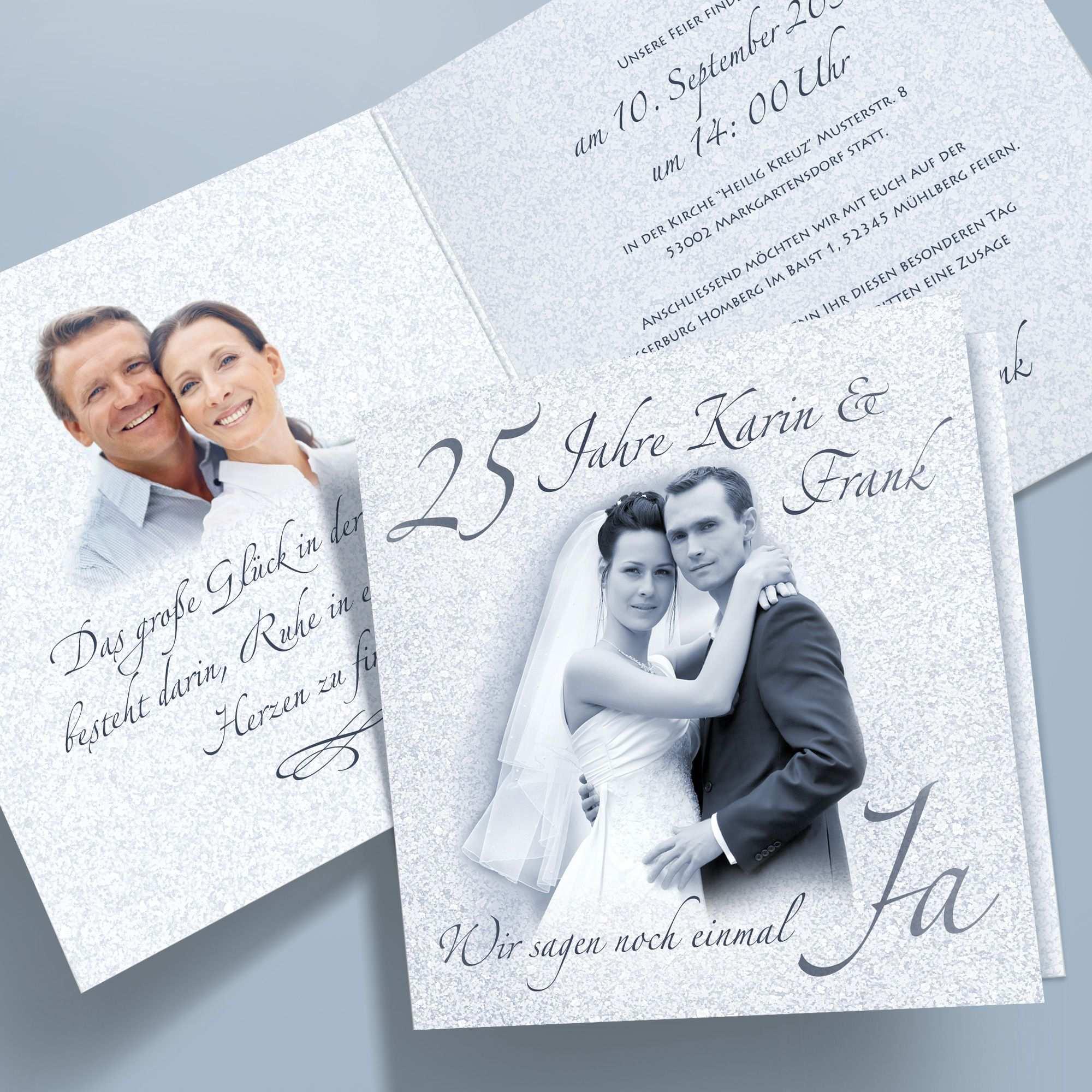 Einladungskarten Silberhochzeit Klappkarten Pers Bild Optim 62 Quadratisch Ebay Einladungskarten Silberhochzeit Silberhochzeit Deko Silberhochzeit