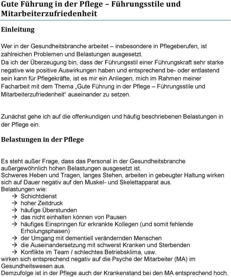 Facharbeit Im Rahmen Der Pdl Weiterbildung Daa Aachen Von Irene Tukanu Zum Thema Pdf Kostenfreier Download