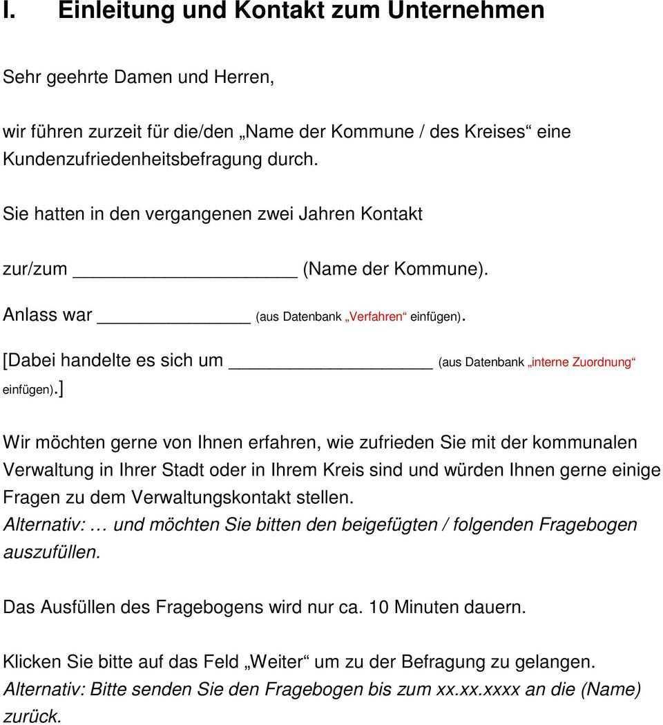 I Einleitung Und Kontakt Zum Unternehmen Pdf Free Download