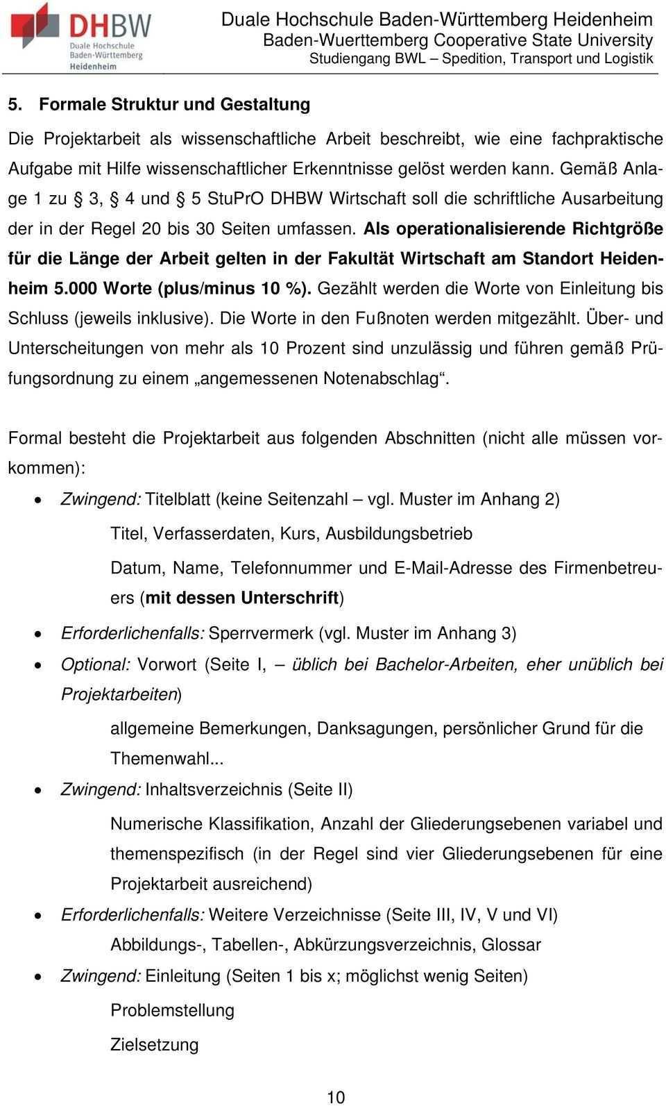 Richtlinien Zur Anfertigung Von Projektarbeiten Pdf Free Download