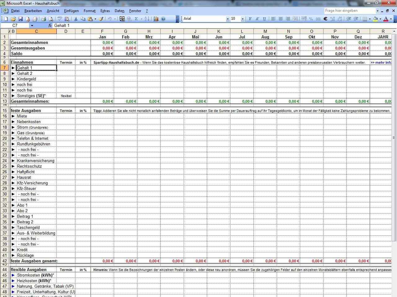 Excel Haushaltsbuch Haushaltsbuch Vorlage Haushaltsbuch Excel Vorlage Haushaltsbuch Excel