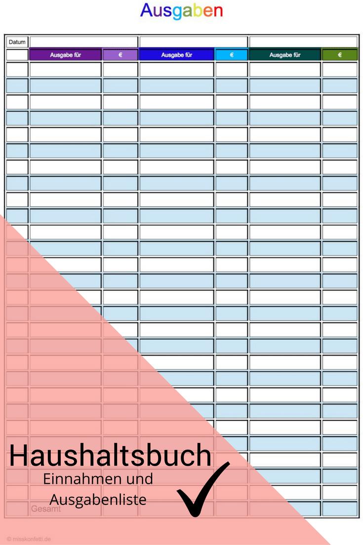 Haushaltsbuch Haushaltsbuch Haushaltsbuch Vorlage Haushalt