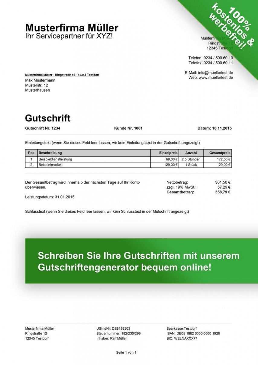 Blattern Unsere Das Beispiel Von Gutschrift Rechnung Vorlage Vorlagen Word Rechnung Vorlage Vorlagen