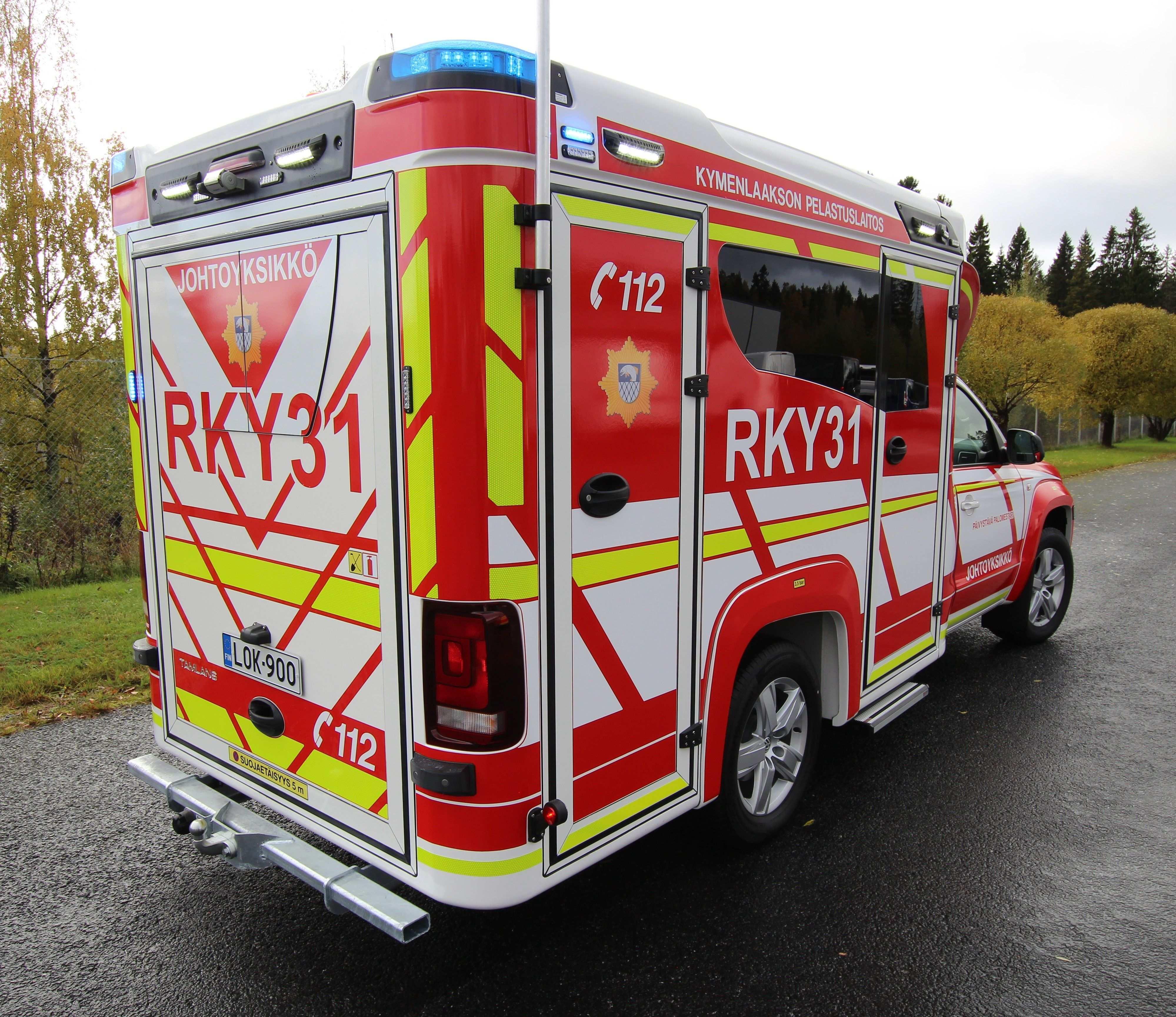 Volkswagen Amarok Tamlans Special Vehicle For Executive Fire Officer Feuerwehr Fahrzeuge Einsatzfahrzeuge Rettungsdienst