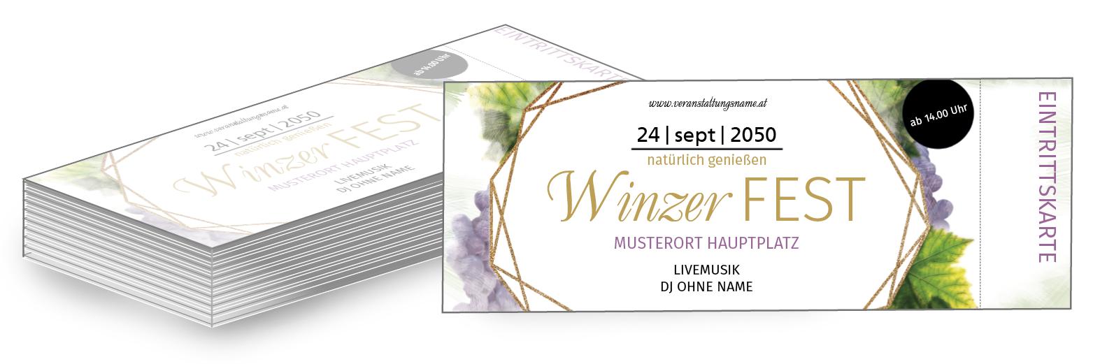 Lassen Sie Ihre Tickets Bei Onlineprintxxl Drucken Und Sparen Sie Versandkosten Eintrittskarte Ticket Weinfest Winzer Wein Eintrittskarten Karten Weinfest