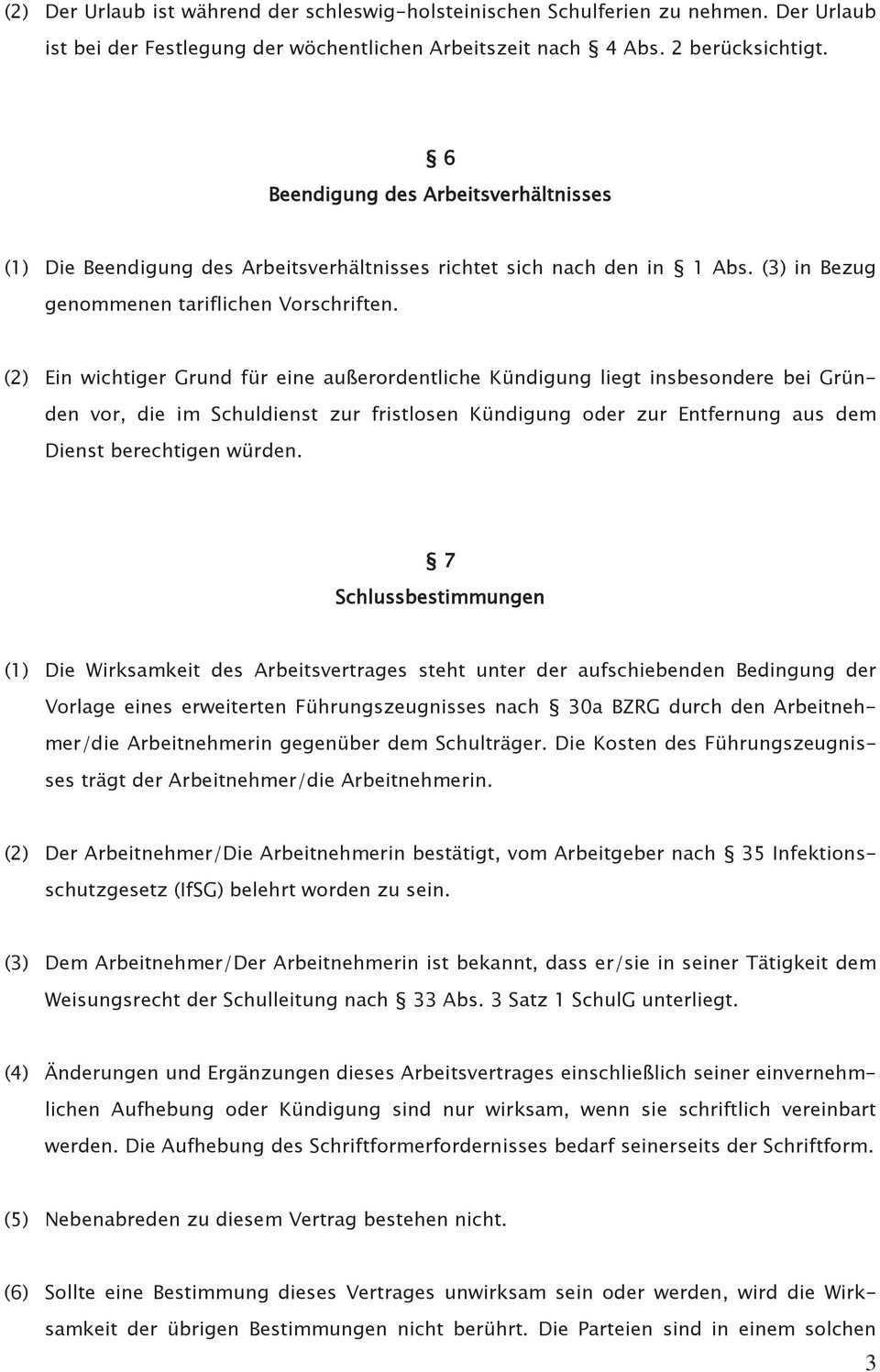 Vi Vertragsmuster Unbefristeter Arbeitsvertrag Zwischen Schultrager Und Betreuungsperson Pdf Free Download