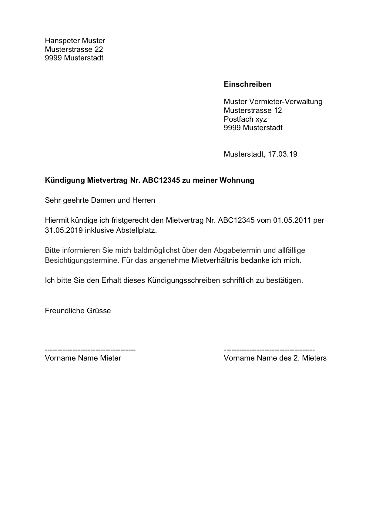 Wohnungskundigung Vorlage Kundigung Wohnung Mietvertrag Schweiz Gratis Download Mietverha Kundigung Schreiben Vorlage Kundigung Wohnung Wohnungskundigung