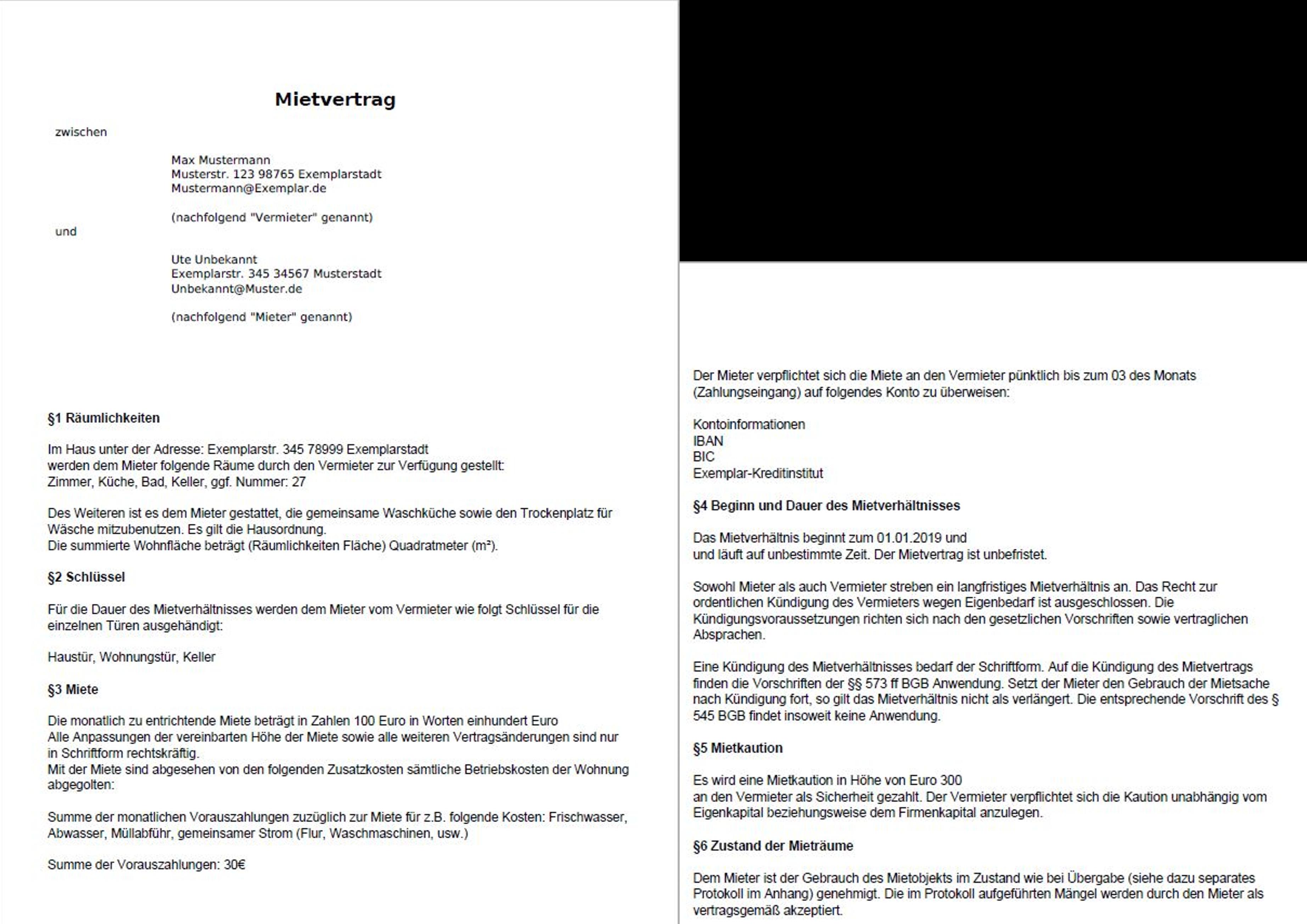 Mietvertrag Dokumentengenerator De