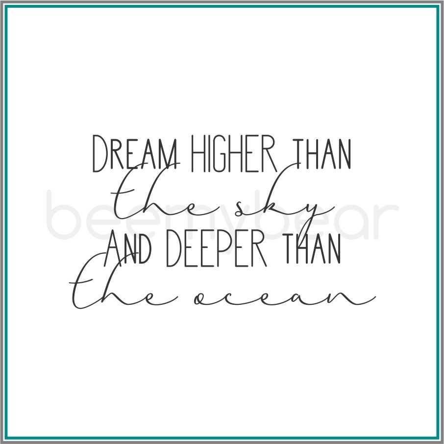 Stempel Dream Higher Then The Sky Lettering Lernen Weisheiten Lettering