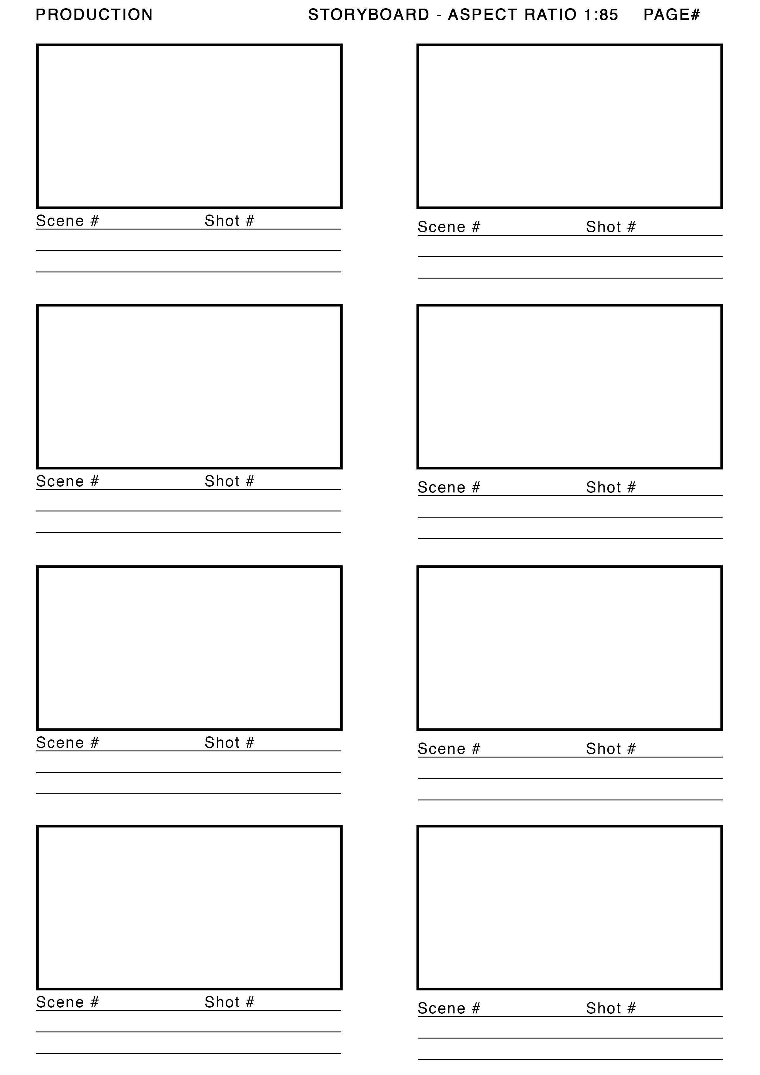 Pre Production I Downloaded A Storyboard Template From Http Alessandrougo Com To Enforce A Neat And Profes Storyboard Template Storyboard Storyboard Design