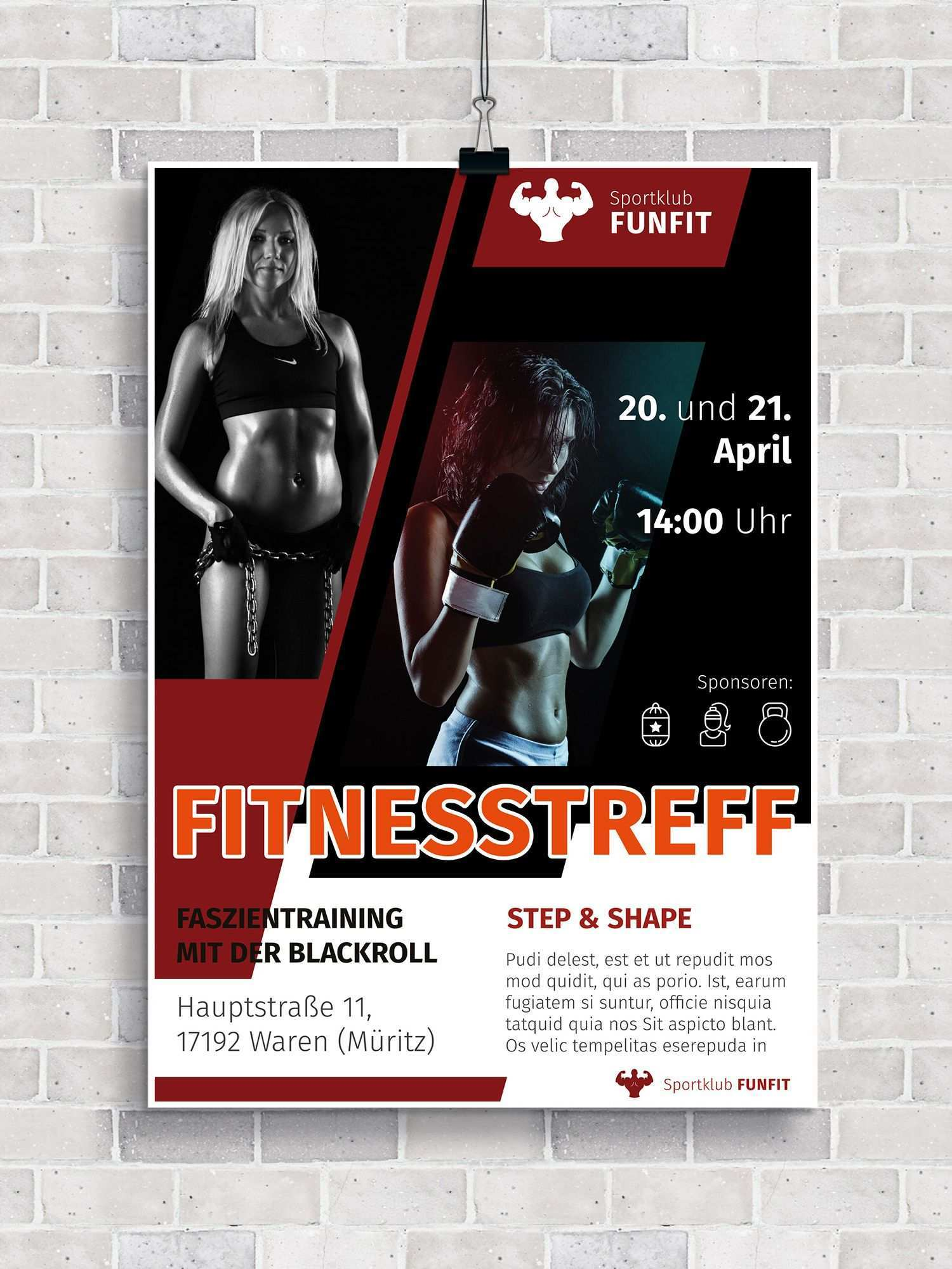 Flyer Vorlagen Fur Fitness Sport Und Fitnessstudios Zum Download Fitnessstudio Fitness Flyer Vorlage