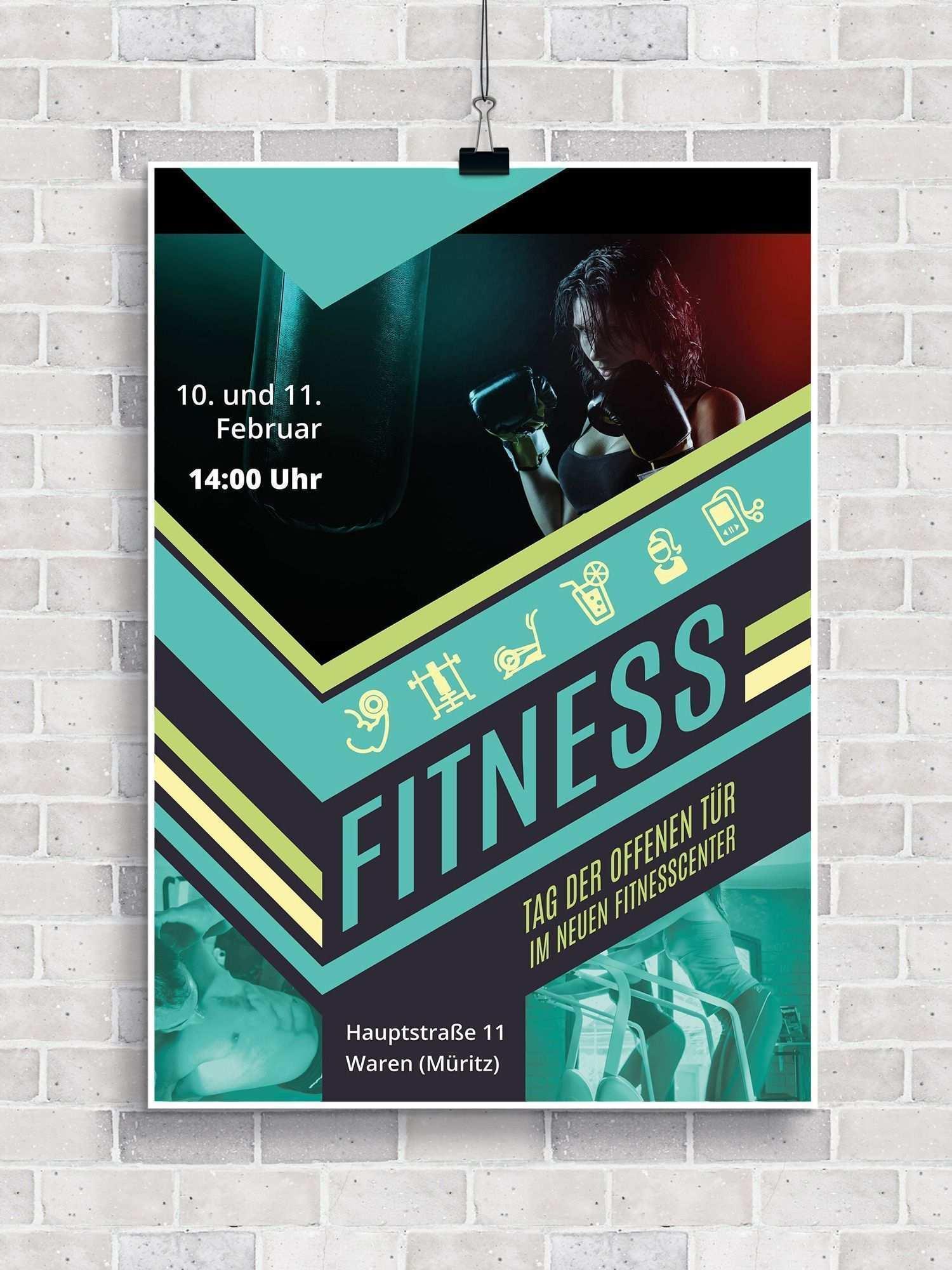 Fitness Fitnessstudio Fitnessstudios Flyervorlagen Fur Langhantel Fitness Probetraining Fitness Fitnessstudios Flyer Sport Poster Design Sport Poster