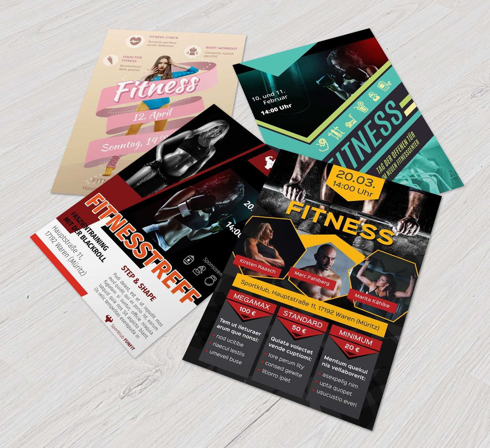 Flyer Vorlagen Fur Fitness Sport Und Fitnessstudios Zum Download Fitness Fitnessstudio Training