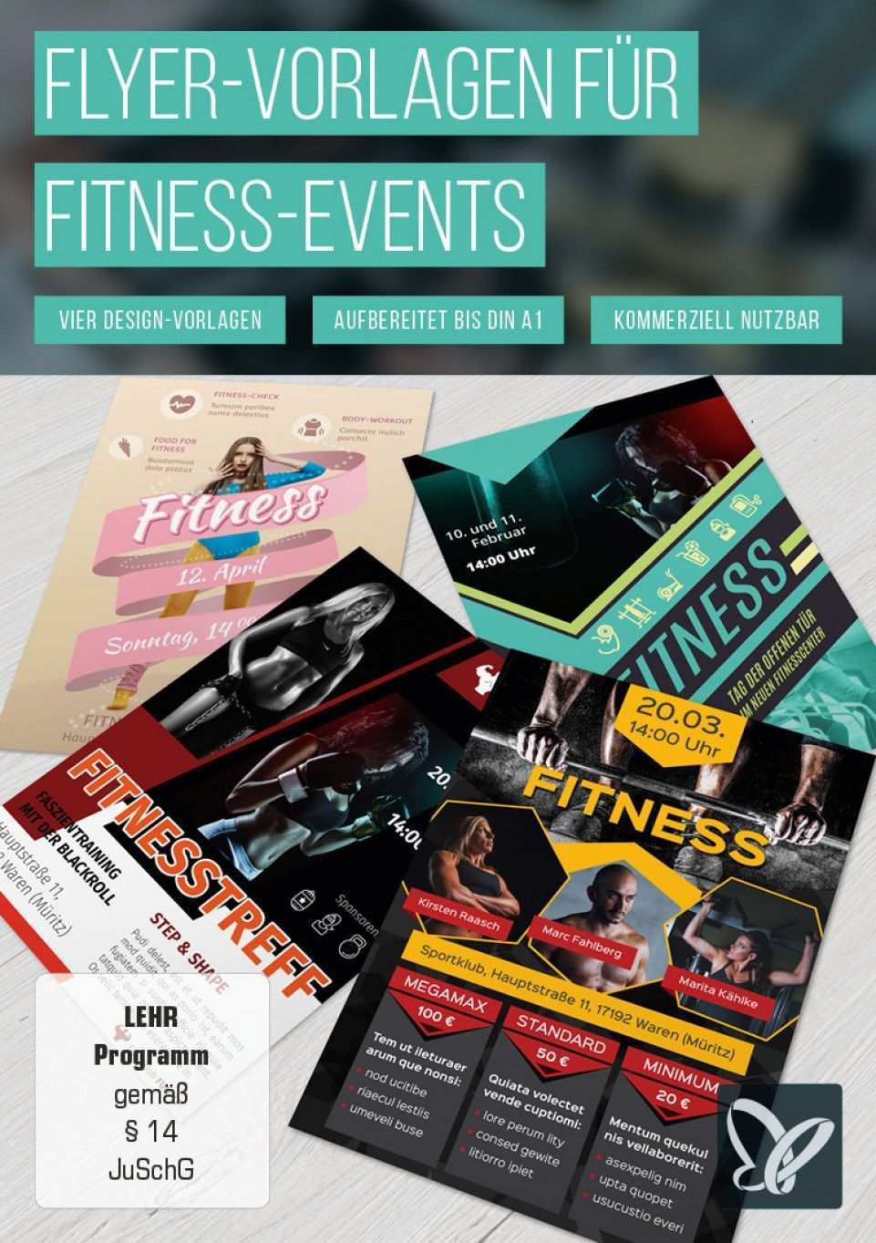 Flyer Vorlagen Fur Fitness Sport Und Fitnessstudios Zum Download Flyer Vorlage Fitnessstudio Fitness