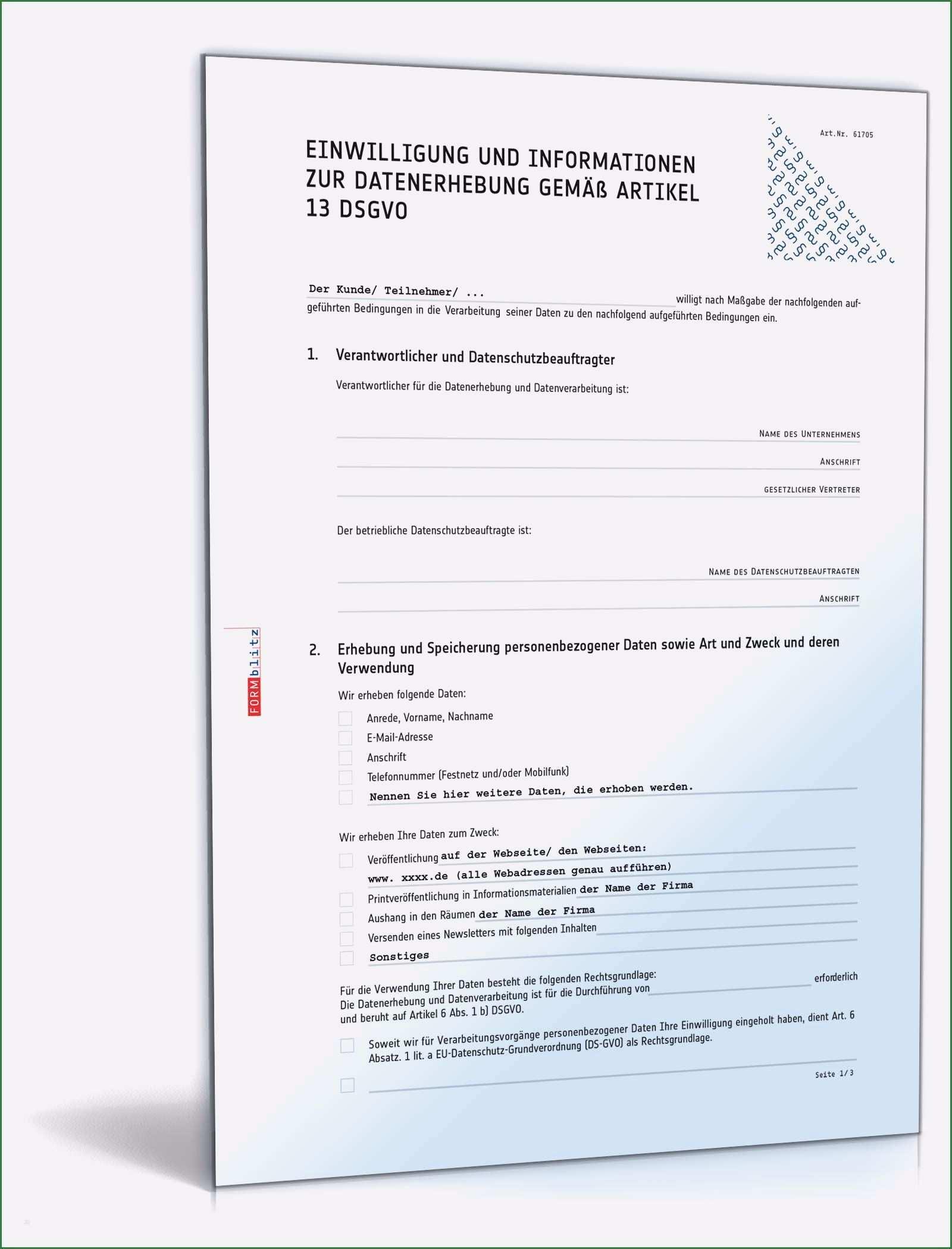 12 Vorbildlich Einwilligungserklarung Vorlage Dsgvo Vorlagen Bewerbungsunterlagen