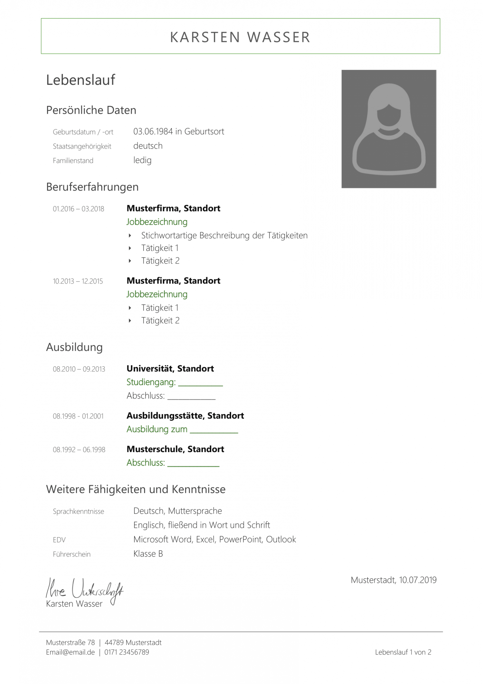 Xing Lebenslauf Vorlage Download In 2020 Resume Template Free Curriculum Vitae Resume Invitation Template