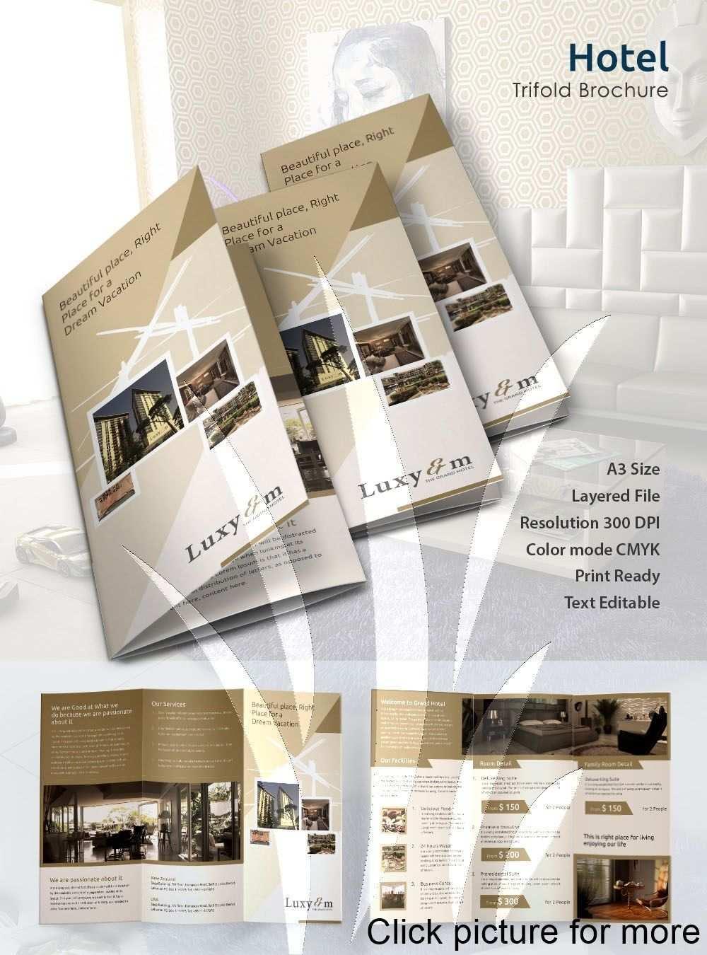 Hotel Brochure Template Free 2020 Hotel Brochure Psd Template Brochure Free