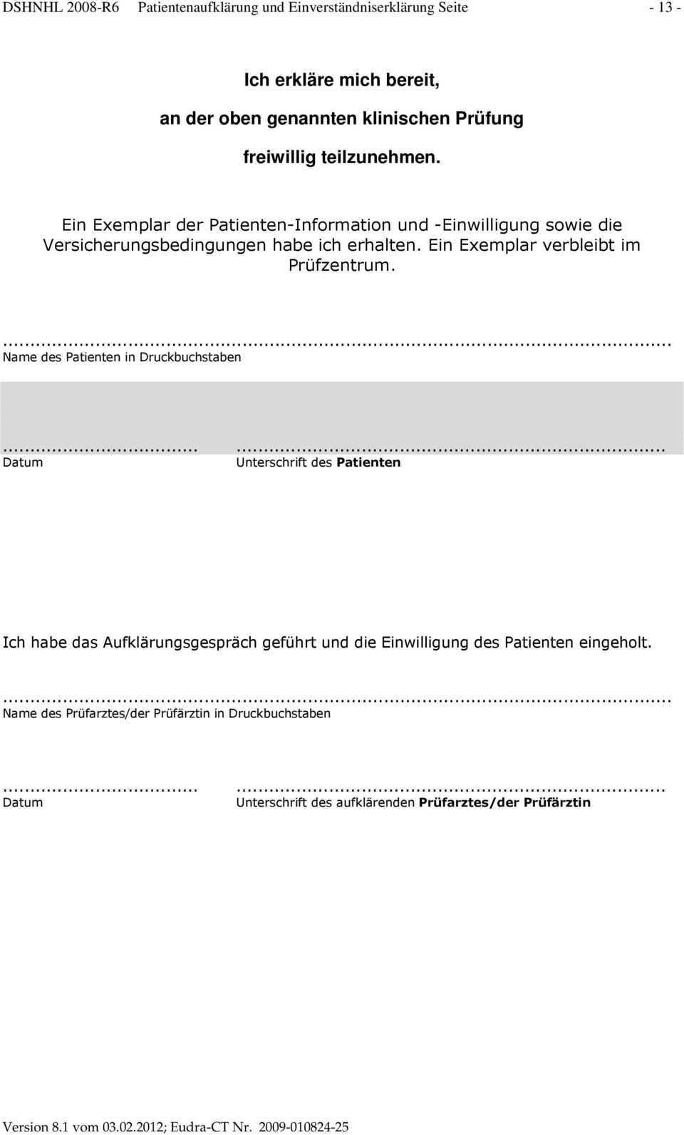 Patienteninformation Einverstandniserklarung Und Protokoll Des Aufklarungsgesprachs Pdf Kostenfreier Download